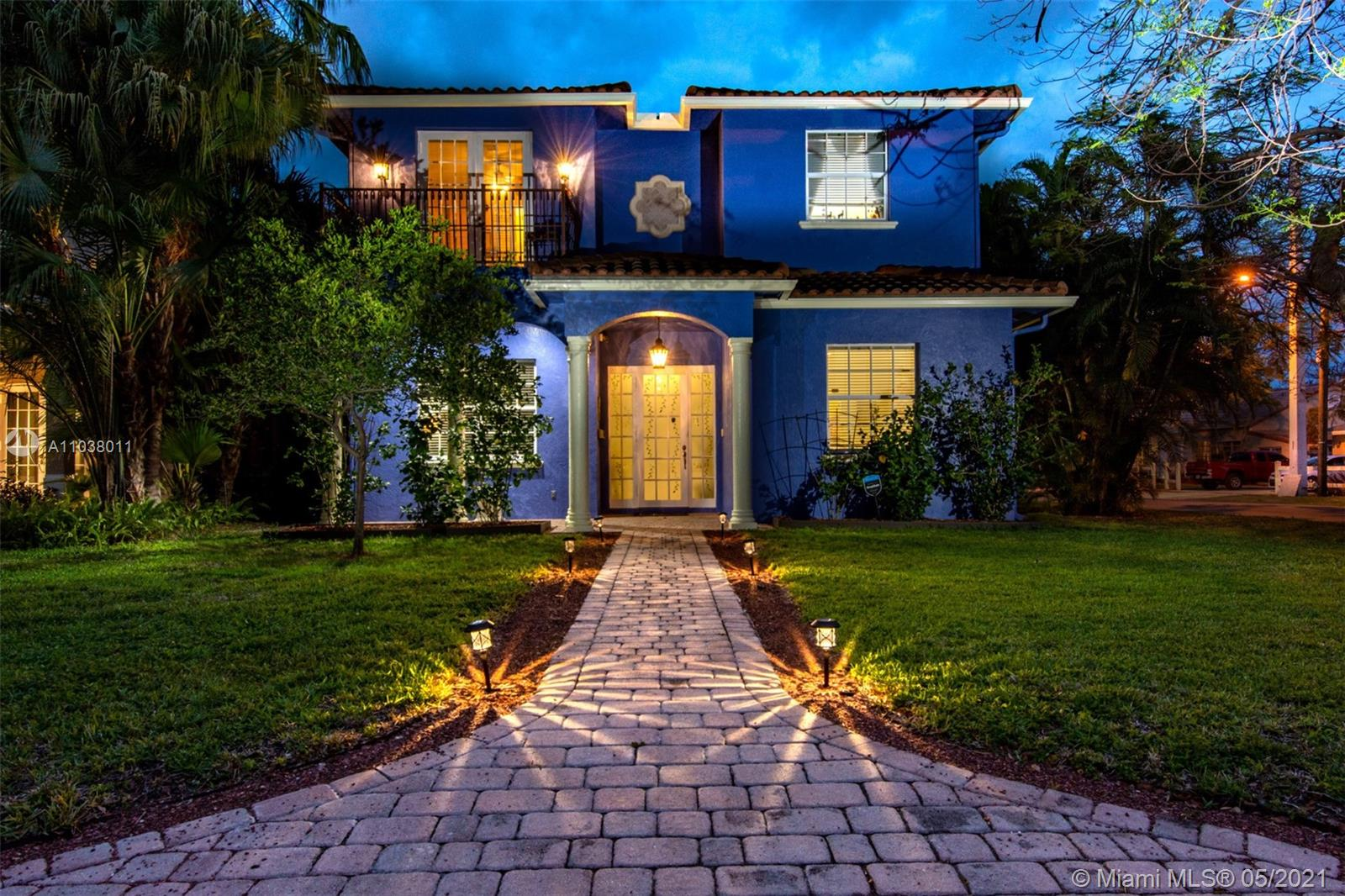 """Welcome to """"The Oasis"""" in Victoria Park. This 3135 sq. foot 5/4/2 home + pool designed & custom built by Glenn Wright Architect in 2002, a """"True"""" Center Hall Colonial, on a corner lot. The home has had 2 owners and was meticulously upgraded to include: polished marble flooring, high impact windows & doors, 2 zone air, 10ft. celling's, crown molding with ceiling fans generously located throughout the home, 2 balconies upstairs. Generously sized footprint with Living, Dining, Family and kitchen plus wood panel finish in the office/5th bedroom adjacent to a full bath and laundry room. 2 car garage includes work/storage. Upstairs are 4 bedrooms, 3 Bath including one bedroom suite & the Master suite with his/her closets, large Jacuzzi corner bath. Backyard Oasis -Pool -Custom Bar -Orchid Garden"""