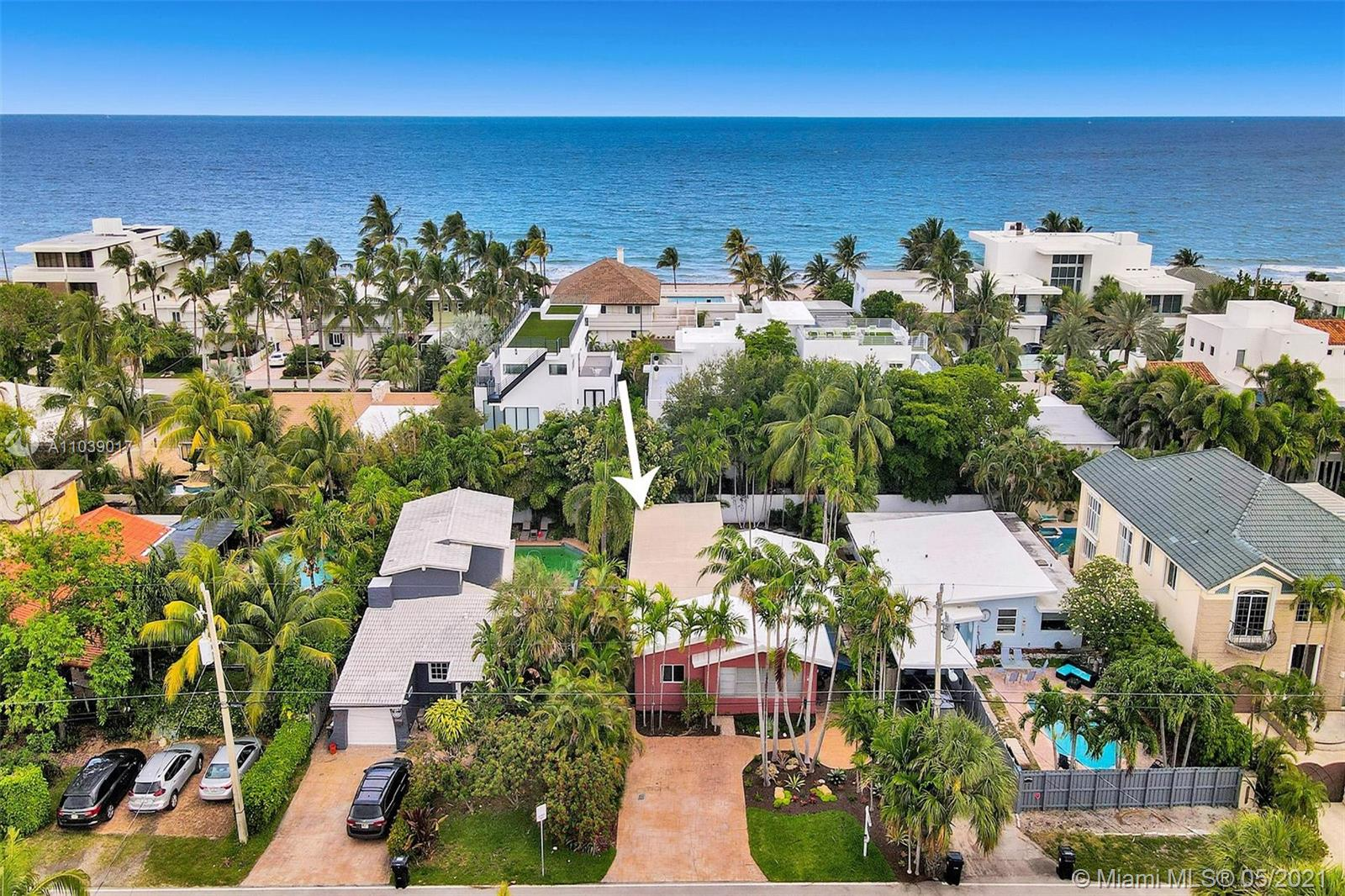 SUN, SURF & SAND. MOST PEOPLE JUST DREAM ABOUT LIVING THIS CLOSE TO THE BEACH...WELL, NOW YOU CAN. HOMES RARELY COME AVAILABLE IN THIS MOST AMAZING & UNIQUE COMMUNITY OF LAUDERDALE BEACH. 2522 CENTER AVE IS LITERALLY STEPS FROM THE OCEAN, BUT ALONG W/ THIS GREAT LOCATION THE HOME OFFERS YOU THE COMFORT & SPACE FOR ANY LARGE GATHERING. OVER 1900 SQFT OF LIVING SPACE W/ HIGH VOL 10FT CEILINGS THROUGHOUT, 2 LIVING AREAS, TRUE DINING & AN OPEN KITCHEN. SPACIOUS BACKYARD FOR ENTERTAINING W/ PARTY-SIZE POOL. BEAUTIFUL FLORIDA TROPICALLY LANDSCAPING W/ WIDE DRIVEWAY TO HOLD OVER GUEST VISITING YOUR OCEAN HIDEAWAY. TAKE THE INVESTMENT TO UPDATE THIS HOME TO YOUR OWN FOR YEARS TO COME OF ENJOYMENT. LIFE IS TOO SHORT TO WAIT, DON'T PASS ON THIS OPPORTUNITY OF A LIFETIME. THE OCEAN IS CALLING.