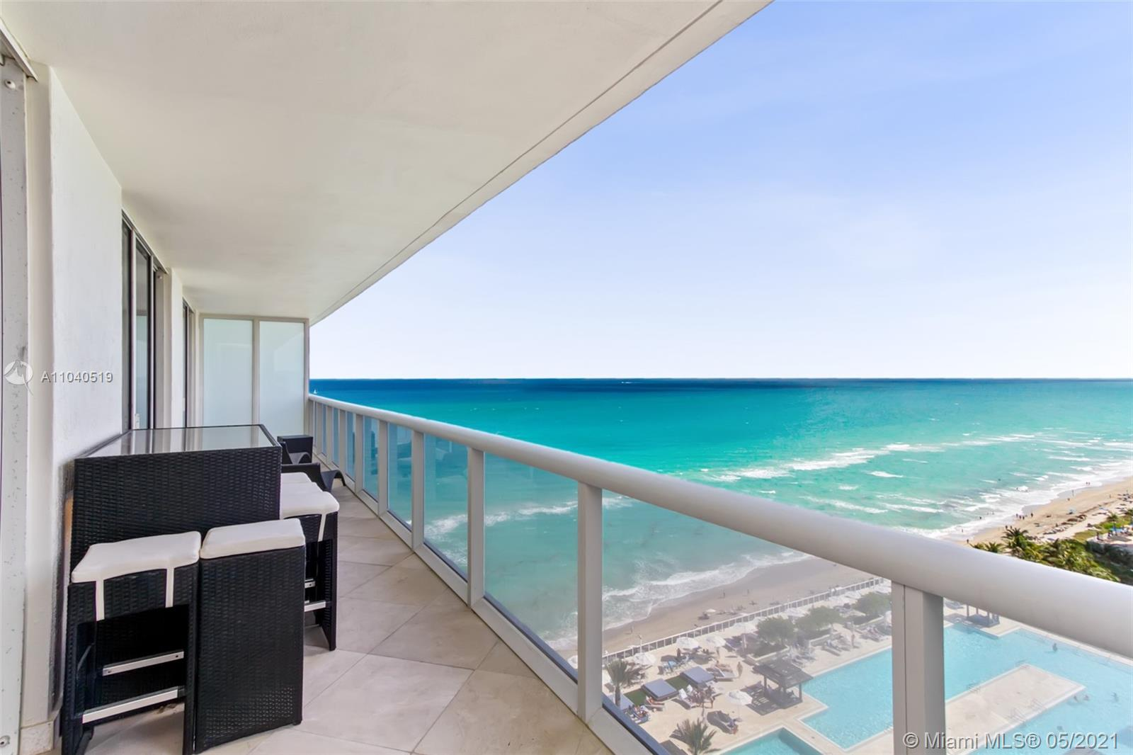 Stunning views of the ocean and intracoastal, South-east exposure. 2 bedroom plus den and 3 baths. Furniture negotiable. All marble floors throughout. European styled cabinets, granite counter tops, floor to ceiling windows. Full time concierge, 24 hr. security and valet parking, 3 heated swimming pools and spa overlooking the Atlantic ocean, snack bar with pool side services , covered parking , room service and spa massage, 50,000 sq. /ft. spa and fitness center.