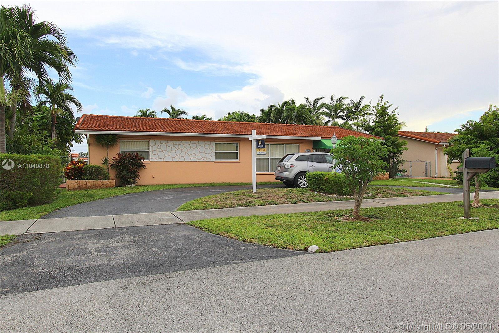 Single-family home minutes away from FIU, the FL turnpike, and the 826 expressway. Features tile flooring throughout the home. Open kitchen layout overlooking the family room. Spacious laundry room inside home. Spacious yard with shed.