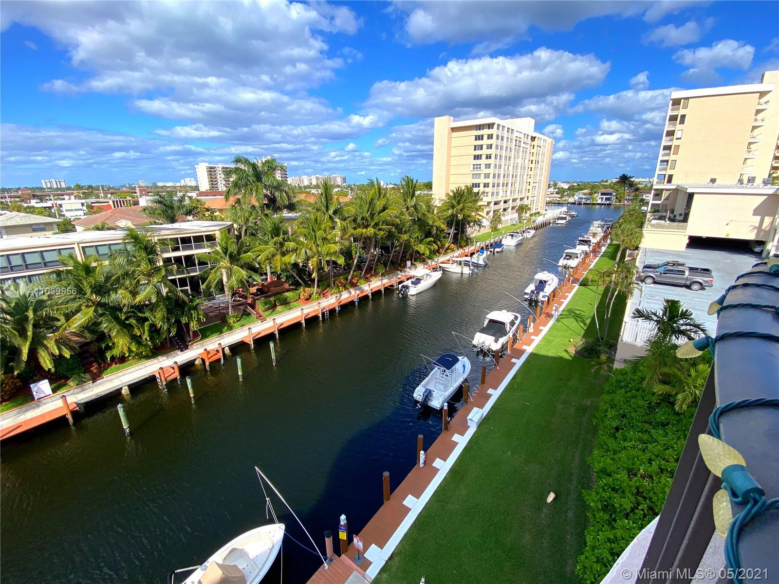 Enjoy your morning coffee, Sunrise, boat show, ocean view and breeze in hot weather from your private balcony with direct canal view. Corner unit! With extra east windows in each bedroom and patio in front of the unit. Coral Ridge Club quiet and is safe neighborhood. Garage parking with storage plus plenty of guest parking. Open floor plan with Extra Large living room and 2 walking closets, updated master bathroom, updated ceilings and walls, kitchen appliances partially changed in 2021, washer and dryer combo machine in unit, impact/ anti-hurricane windows, wood blinds . Heated pool and recreation room with kitchen. Paradise for boaters! No fix bridges, you can buy or rent boat dock when available. Guest boat dock 55', could be used by owners or your guests.