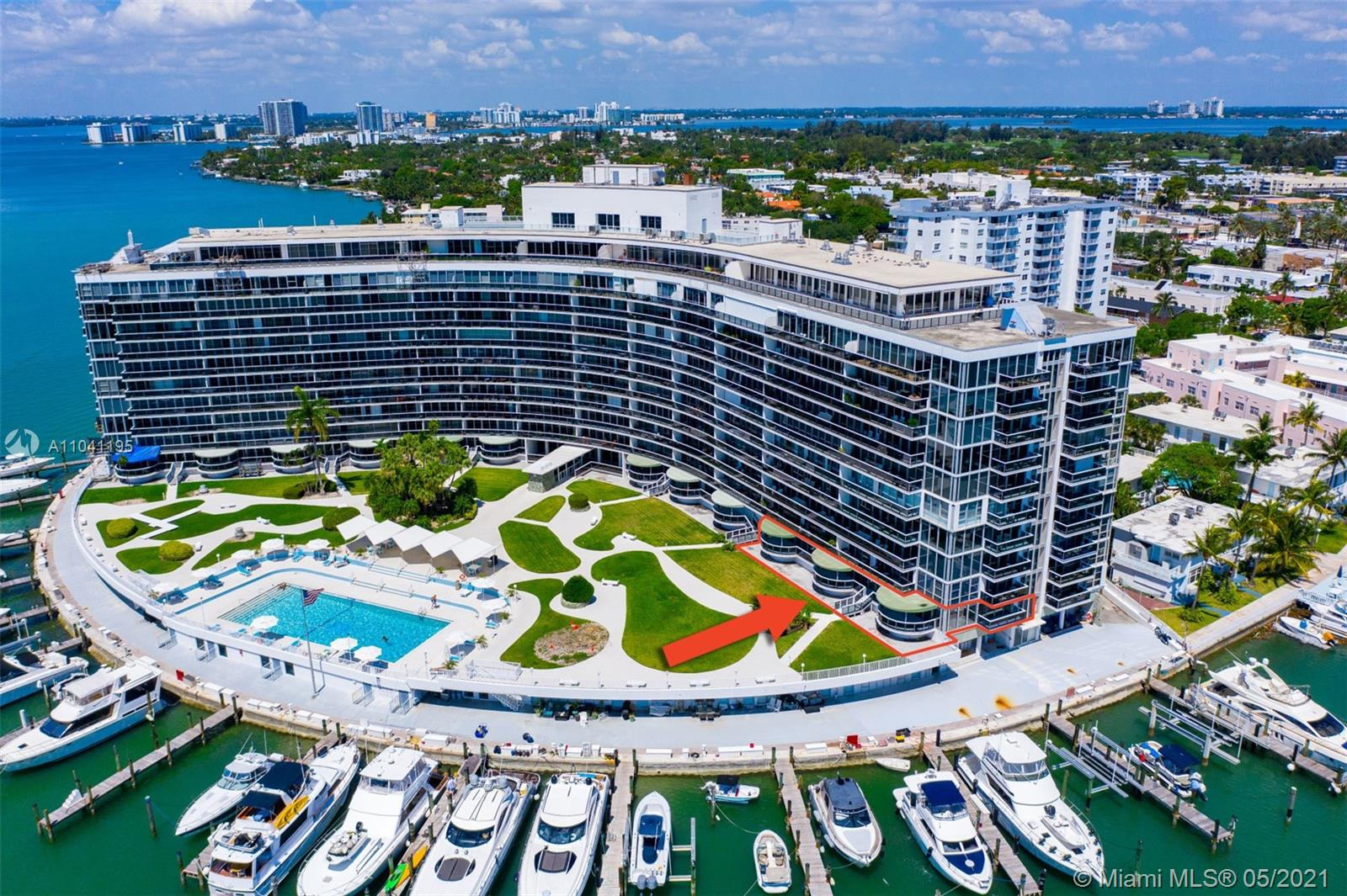 A perfect opportunity to remodel or renovate this 3,300 square foot unit (as per owner) and make it your very own. This corner unit at the King Cole Condominium in Normandy Isles consists of two combined units with 3 bedrooms and 3 bathrooms and features floor to ceiling windows, 3 large ground floor terraces with unobstructed views to the Intracoastal Waterway, Biscayne Bay with sunrise and sunset views. It includes 2 assigned parking spaces and first floor step-out access to the beautiful grounds, the pool area and the boat slips. Perfectly located, just minutes to fine dining, shops, entertainment, and the beaches.