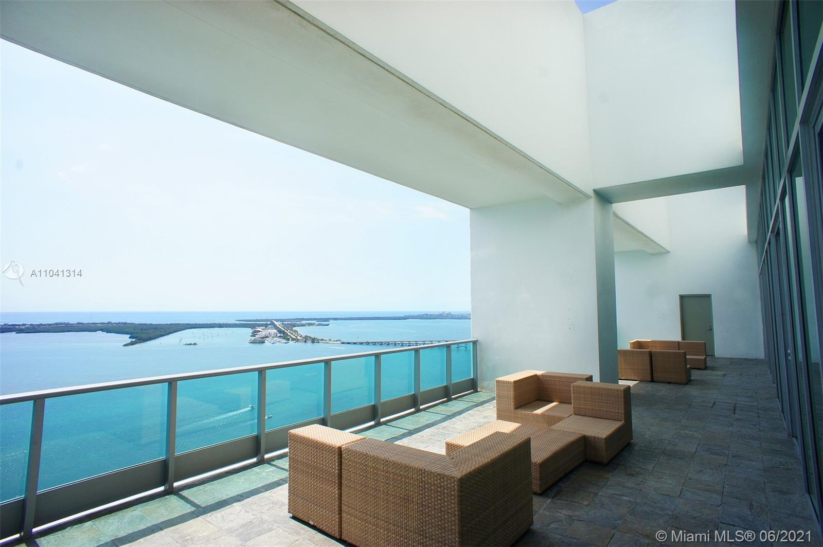 **RENTED UNFURNISHED** Absolutely stunning 2/2 corner unit in the highly coveted Jade Brickell! This unit features a spacious open floor plan with floor to ceiling windows, a sleek modern kitchen with top of the line appliances, king sized guest bedroom, huge master retreat with luxurious 5-piece en-suite bath, and over 400sf of covered outdoor living!! Partial bay views and prime location in the very heart of Brickell. Resort-style amenities include: Infinity edge pool, tanning pool, SPA, fitness center, racquel ball courts, business center, 48th Floor Lounge, children play room, and more. 2 Parking Spaces: 1 assigned, 1 valet.  This is a must see. Schedule a showing today!  RENTED UNFURNISHED