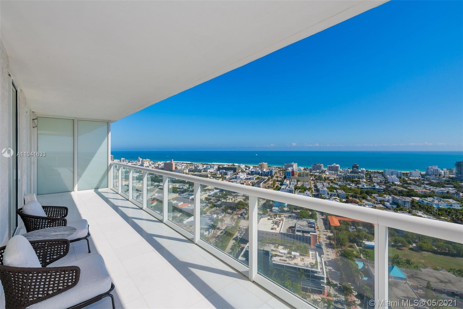 """Sought after """"07"""" line on high floor considered to be the best 2 bedroom at ICON South Beach. Spacious (1815 SF) corner unit with wide wraparound balcony featuring jaw-dropping water views from every room. Feels like you are living on a cloud. Designer kitchen with Miele appliances and Subzero refrigerator. Top of the line remote sheer and black-out shades throughout.  ICON South Beach is a is Philippe Starck designed, full service, waterfront building with marina and endless amenities including a state of the art gym, 2 pools, private restaurant, spa services, 24HR valet and security.  In walking distance to the beach, 5 star restaurants and South Point Park."""