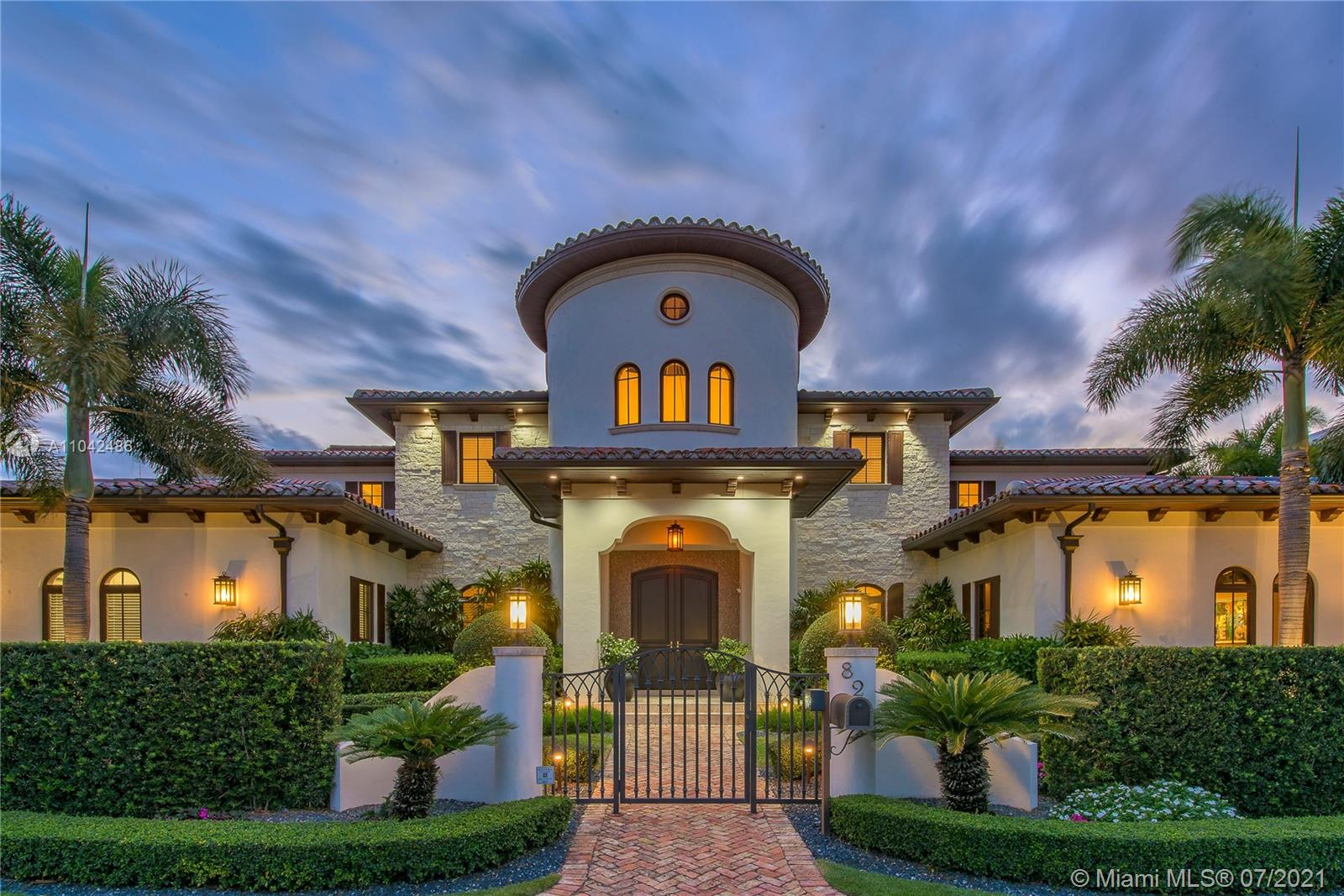 """Proudly presenting the most breathtaking home in Ft Lauderdale. Gracing the covers of national luxury magazines, this magnificent Santa Barbara style estate features exceptional custom interior design. Nearly 10,000 square feet of refined living including, but not limited to, theatre with onyx bar, library, five fireplaces, 3 laundry rooms, 120ft of ocean access waterfront: 10 minutes to the cut, saltwater infinity pool, and 2000 bottle wine room. The incomparable view allows you a """"private' front row seat on the intracoastal to watch the boats streaming by. This unique home must be toured to appreciate the level of detail and craftsmanship. Architecture by Bob Tuthill Interior Design: Marci Varca of MJB Design Group."""