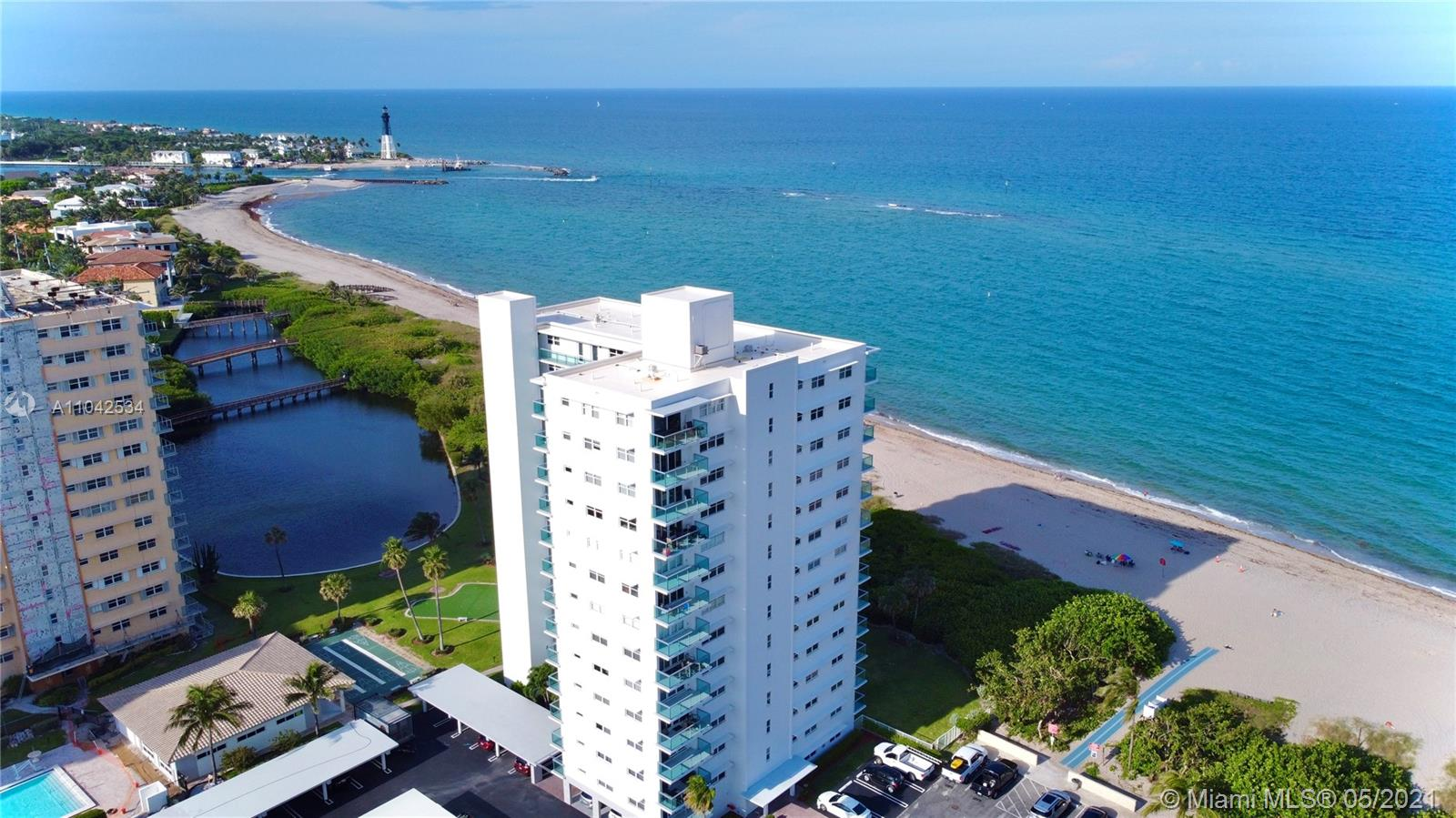Spectacular direct unobstructed ocean view from the moment you enter the unit. You can see the ocean, the lighthouse, the beach & the garden! The property has been completely upgraded (2021) & move in ready. The building has undergone major renovations within the last year including brand new balconies with glass panels. New roof installation coming soon. New paint & waterproofing, redone catwalks & common areas . The kitchen has been opened to afford maximum water view. Both baths have been upgraded and are very nice and modern. The master bedroom has direct ocean view. The master bath has a deep soaking bath tub and a linen closet. The unit has impact glass and there is 1 assigned covered parking space. The building is direct ocean front, come off the elevator and walk to the beach!