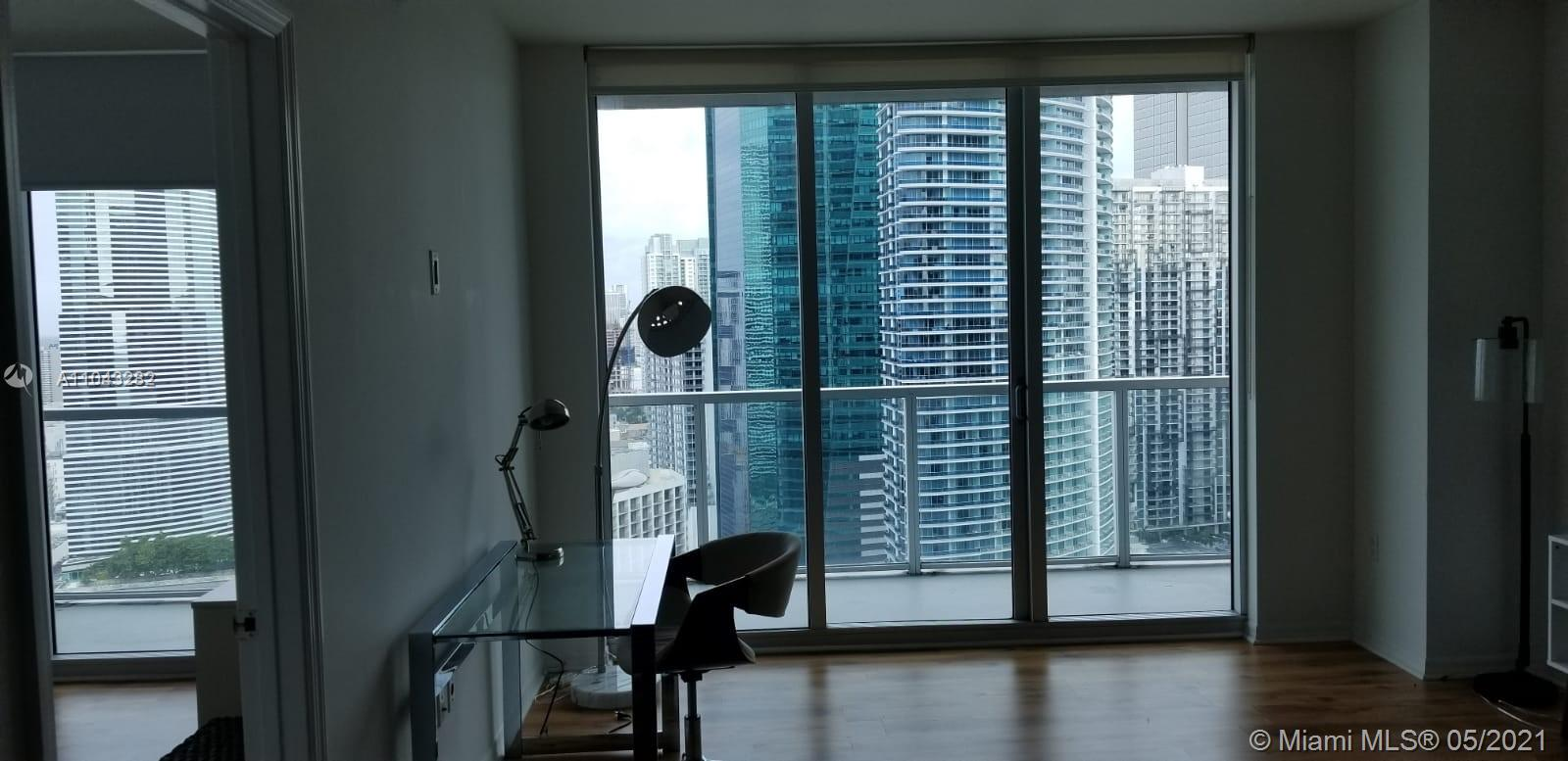 Amazing renovated 2 bedrooms /2 Bathrooms (shower & Jacuzzi tub). Laminate floor.Modern kitchen w/granite counter top, Italian cabinetry. Washer/Dryer in the unit. Amazing view from the 38th floor balcony. Building offer endless amenities: Vallet Parking,Lobby, 4 high speed elevators, Pool in the 11th floor, Pool in the 42th floor , Spa, Gym. Few steps from the Brickell City Center, the best bars and restaurants. Great apartment at a great price in a very attractive and requested area. Don't loose the opportunity to buy your new home! You can also decide to buy it as investment, rent it and receive a good income. Tenant inside until Aug2021.