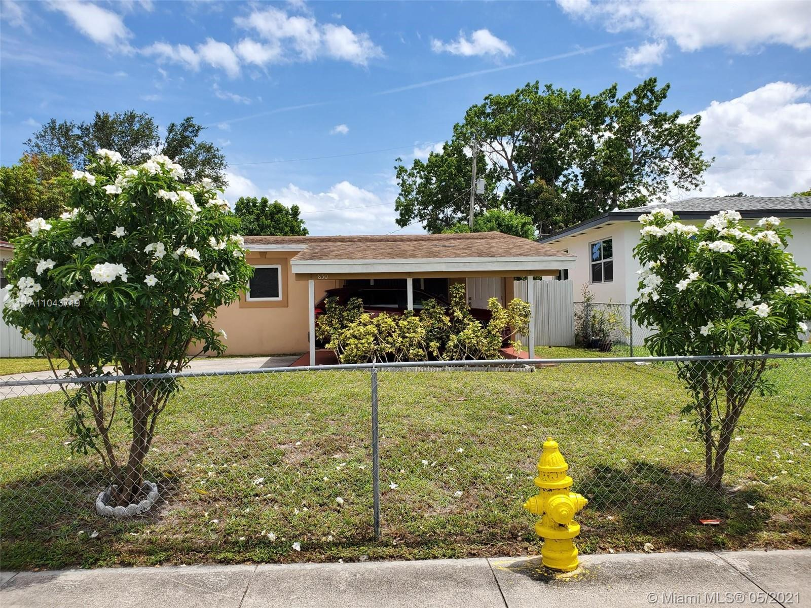 850 NW 67th St  For Sale A11043719, FL