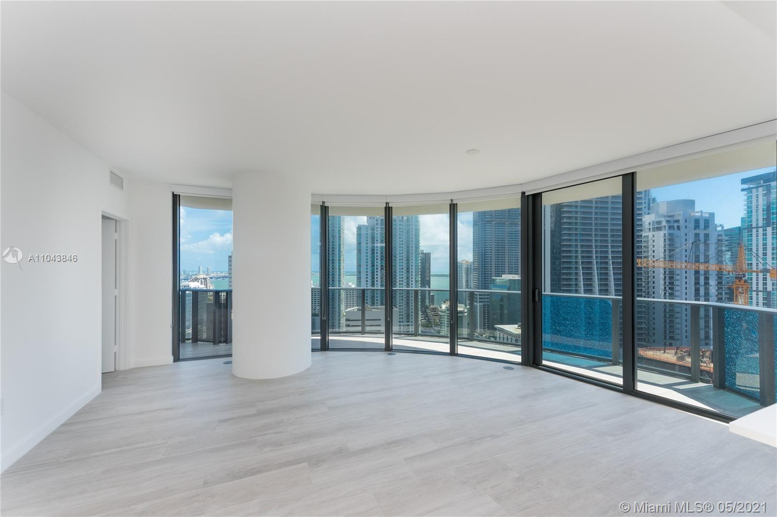 Spacious and beautiful unit in Brickell Heights East Tower with great layout. 2 Beds + DEN, 2 full baths. Top of the line appliances and finishes. Great views overlooking the Bay and Brickell Skyline from it's spacious balcony. All porcelain floors throughout. Blinds/Blackouts and 1 assigned parking space. Amenities include: Concierge 24/7, 2 pools (1 rooftop pool), jacuzzi, gym, steam room, sauna, business center, media room, children play-room, theater. Just steps from Mary Brickell Village, great restaurants and Brickell City Centre.