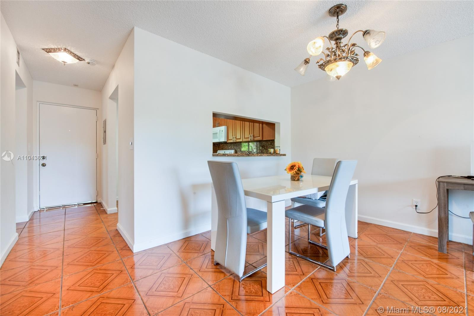 Down payment only 5% and low maintenance (270 dollars monthly)are the watchwords for this apartment. If you are looking for a condominium safe, quiet, peaceful and well organized, close to Metrorail (about 15 minutes from Dadeland Mall station to Brickell), Palmetto Expy, supermarkets and Dadeland Mall you are into the right place.The apartment is 1bed/1bath, has Impact windows and everything is well maintained and working properly. The kitchen is updated and has a window. Direct access to the bathroom from both the bedroom and the living area. Walk in closet plus additional closets. In the entertainment area: 4 swimming pools, tennis courts, gym (one for women and one for men) and the clubhouse which can be rented for parties.