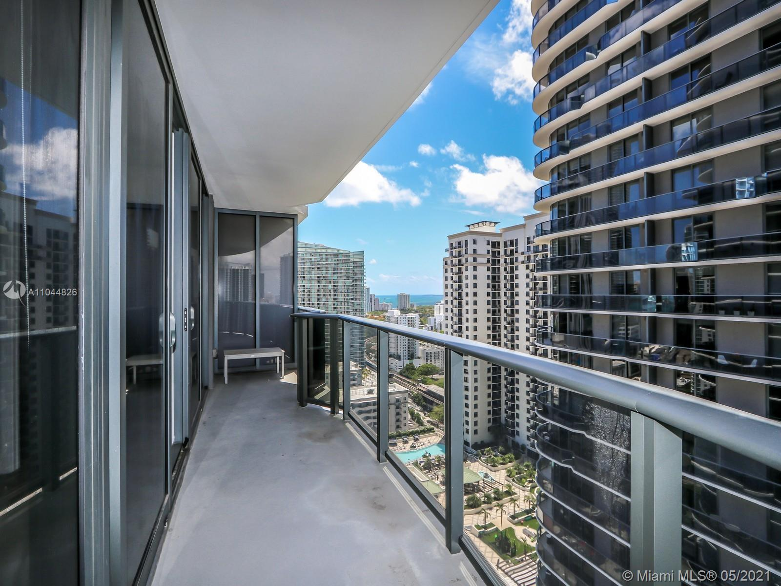 BEST DEAL IN THE BUILDING!! Corner unit with Stunning views from the 27th floor in the heart of Brickell. Brickell Heights East is a beautiful building with all the amenities imaginable. This 2 bedroom 2 bathroom corner apartment has a huge wraparound balcony which has breathtaking views of the City, some Water Views and so much more. This apartment's windows are from floor to ceiling allowing you the ability to have the beautiful views from all areas within the apartment. It's simply an amazing apartment which is cozy and nice. Look no more!!!