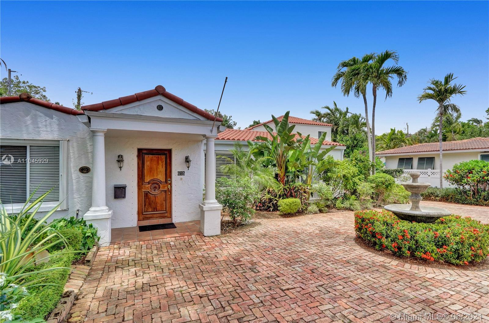 """Discover this Ft. Lauderdale Historical Society Home with so much old world character in desirable Victoria Park neighborhood. The home has charm with crystal door knobs, Stylish Dade county Hardwood floors, Chicago Style brick pavers, lush secluded backyard. Split floor plan 3/2 baths w/ Hardwood floors throughout. Amazing Retro Kitchen is perfect for the """"Chef in you"""" with 2 Farmhouse sinks, 2 Dishwashers & 6 Burner Gas stove. Bonus Sitting area & Dining room area both open to the Pool area with large private outdoor shower area. Perfect location with a 5 min. drive South to Las Olas for Restaurants & Nightlife OR 5 min. North to Galleria mall shopping near Fabulous Ft. Laud Beaches & 7 min. to the airport. Annual fees includes Water, Lawn, pool, gas and electricity at a cap amount"""