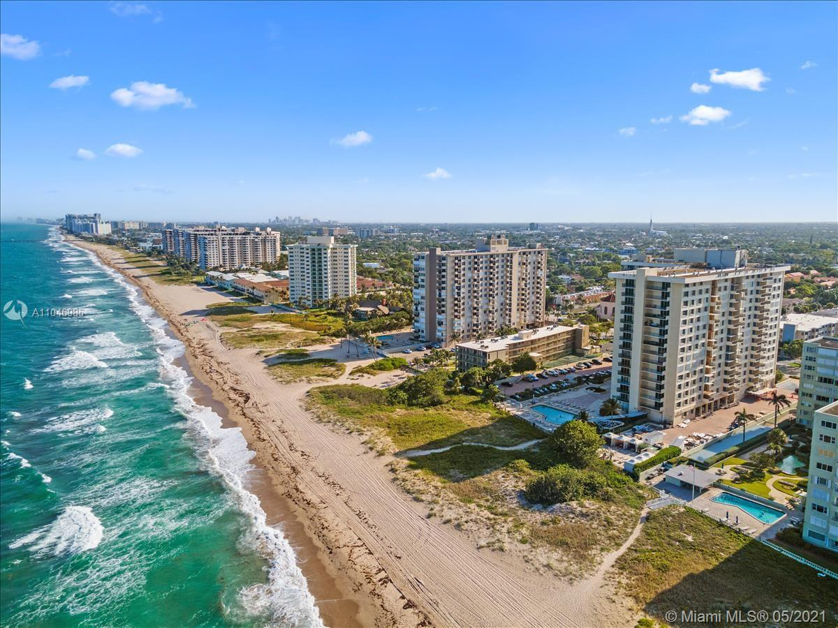 Beautiful 1 bedroom unit in spectacular ocean front condo in Lauderdale by the Sea. Approx $2M renovation underway in the Ocean Place Condominium. Heated ocean front pool, gym, social room, billiards, library, saunas and more in this one-of-a-kind building. Elegantly updated interior, hallways and lobby, 24 hour security in the lobby, valet service for your convenience. Easy to show, call Listing agent for showings. * Information herein deemed reliable but subject to errors and/or omissions. All sizes, square footage and measurements approximate. All Agents please verify. Listing info can be revised at any time without notice.