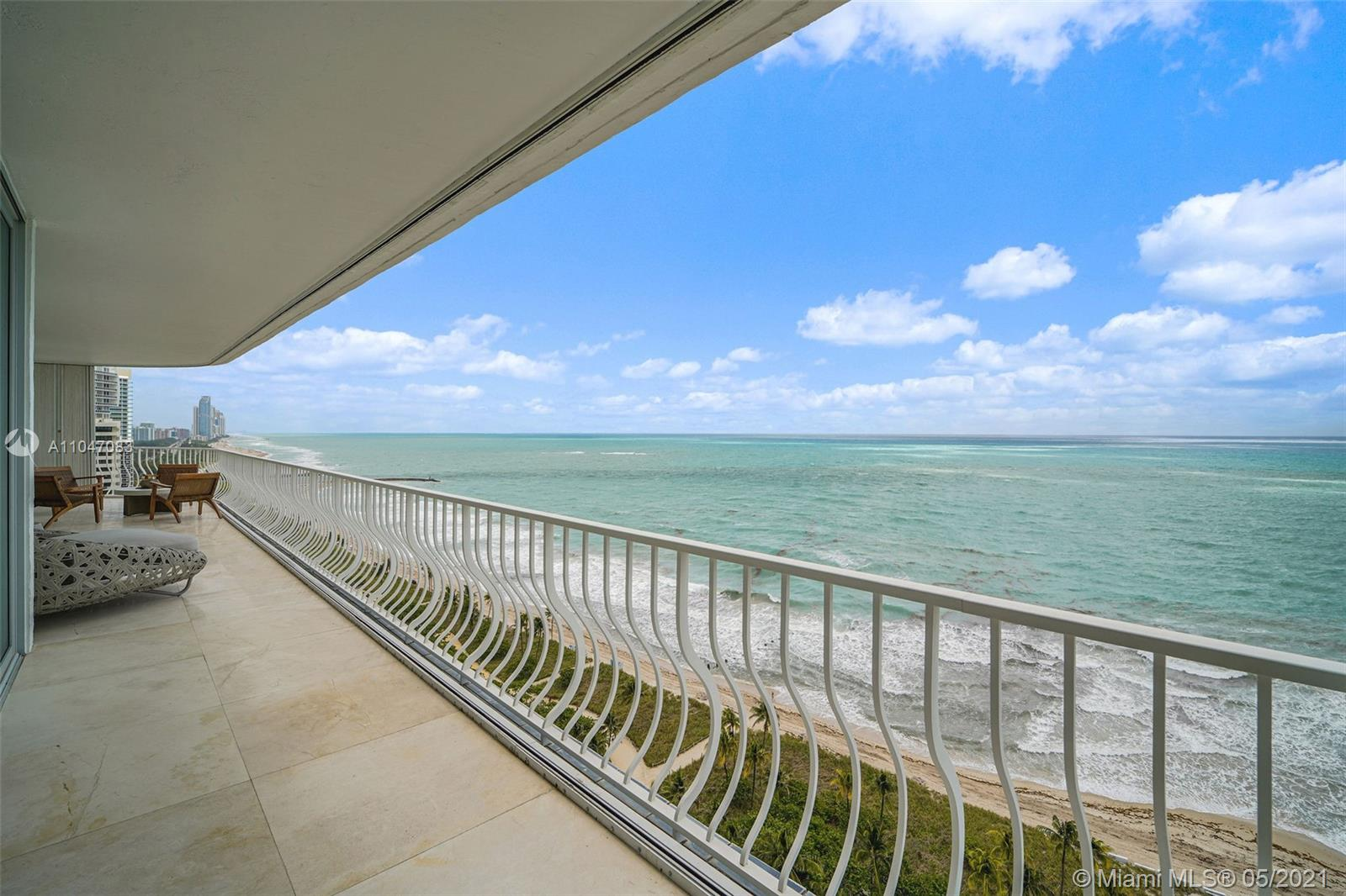 Spectacular Penthouse apartment with breathtaking views of the ocean and Miami Beach. Located in the heart of prestigious Bal Harbour, this gorgeous and spacious masterpiece was completely renovated in 2015. The renovation includes a re-designed floor plan, new electrical, new plumbing, new AC HVAC units, 36x36 marble flooring throughout, Quartz and Onyx countertops, custom-built grain-matched walnut cabinetry, control-4  Intelligent audio/video system throughout the apartment and much more.  The apartment is move-in ready! Sold furnished and includes a highly desired, premium location poolside cabana with a full bathroom. Building just completed a major renovation including a new roof. No assessments and low maintenance. 1 Assigned Parking Space & 1 Valet Parking.