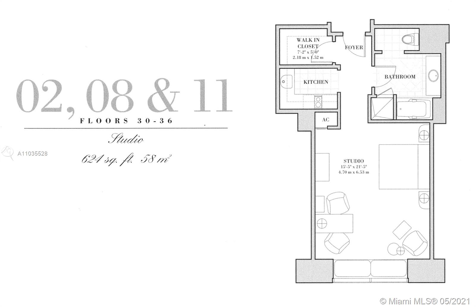1435  Brickell Ave #3511 For Sale A11035528, FL
