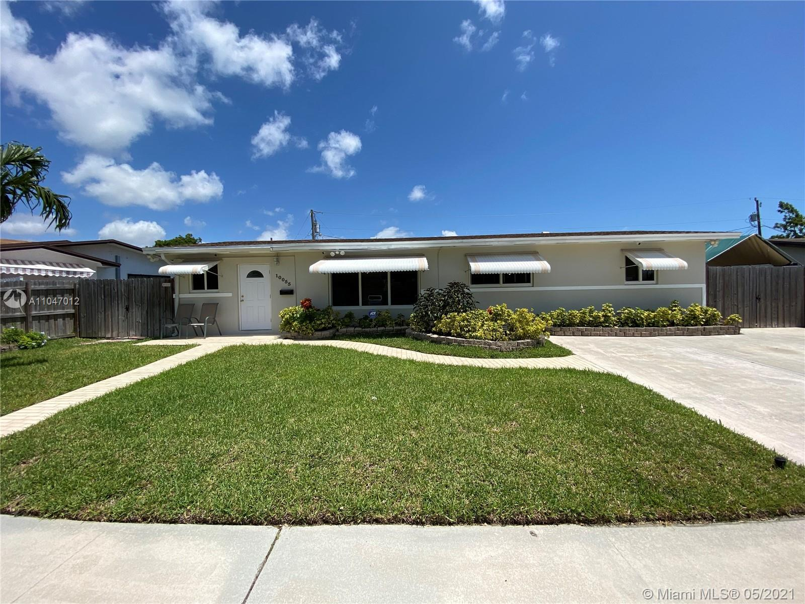 Charming 4-bedroom, 2-bathroom, single family home in Cutler Bay. Home features a brand-new roof, hurricane impact windows, fresh exterior paint, Stainless-steel appliances, laminate floors in 3 bedrooms and kitchen, all major AC unit components have recently been replaced, alarm system w/ cameras, extra-large storage/laundry room plus 2 shed houses. Large fully fenced back yard w/ a covered porch and screened in pool is perfect for entertaining! Plenty of space on the side to park your boat or an RV. This home is conveniently located a short distance from Old Cutler Rd., US-1, turnpike, Black point marina, shopping and dining. No association. A must see, wont last! Must email the DU before showing.