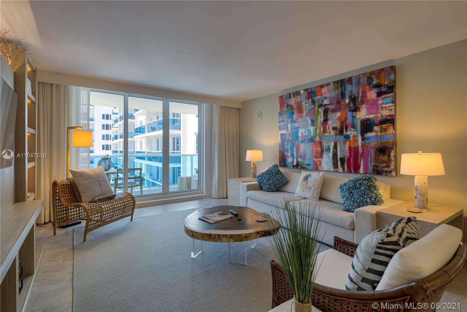 This gorgeous 1,036 Sq. Ft. 1/1 is the perfect combination of all things natural and organic in a luxurious setting. From a furnished private balcony with a double chaise lounge and a table set for two to breathtaking views of the Intracoastal. Enjoy your relaxing living room with a plush white organic sofa that converts into a queen bed, and a 4 seater dining table that leads to a private master bedroom with a king-sized mattress, covered in 100% cotton sheets. When booking this condo, you receive hotel privileges just as if you were staying directly through the hotel. Hotel amenities include 4 pools, gym, Bamford spa, Soul Cycle, 6 onsite restaurants, 4 bars, valet service 24 hours a day, and chauffeured sedans.