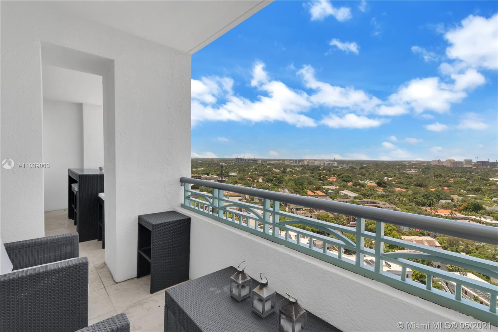 This spacious fully furnished 1 Bed, 1.5 Bath is located on the 19th floor in the ultra-luxury Ritz-Carlton Coconut Grove. This unit features granite countertops, stainless steel appliances, custom closets, and a bright open floor plan. The modern kitchen with a breakfast counter overlooks spectacular views of Coral Gables.   Step outside to your large balcony with designer furnishings that provides indoor-outdoor access and light throughout the unit. The spa-like master bathroom includes a frameless glass shower and top-of-the-line finishes. Property amenities include fingerprint entry, 24-hour concierge, private pool, fitness center, in-room dining, 3 world-class restaurants, and The Ritz-Carlton Spa on site.