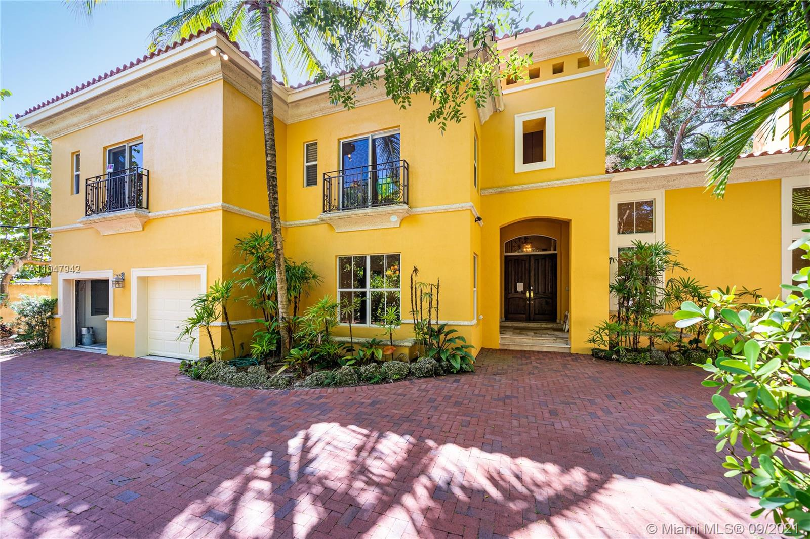 Property Overview - Elegant Italian-inspired villa in exclusive & gated De Garmo Estates. Drive through the majestic gates onto a winding road canopied by massive oaks. Light-filled living spaces with double-height ceilings & the finest finishes, including marble fireplace, coffered & tray ceilings, and extensive millwork throughout. Expansive custom kitchen and family room open to covered terrace & pool surrounded by lush botanical gardens. Close to the Grove village centers, boutiques, cafes, and bay front parks & marinas.  HOUSE CAN BE SOLD FURNISHED