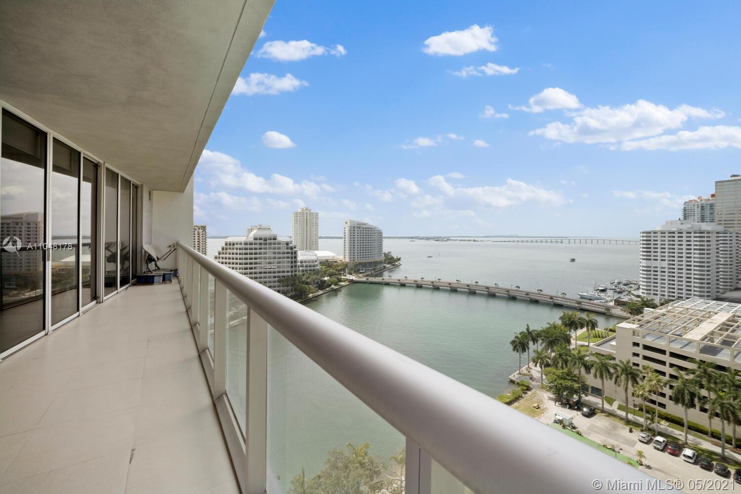 Pristine 2 Bedroom + Den/Media Room, 2 Bathrooms boasts 1,518 sq. ft. of living space & has sweeping water views from anywhere in the unit overlooking the spectacular waterfront bay. Located in Tower II of ICON BRICKELL. Have access to the best amenities in Miami such as the world-famous pool deck, 5-star spa, state of the art gym, & two of the top restaurants in Miami. A couple of blocks away of Brickell City Centre. Price is firm. It is vacant and Move-in Ready!