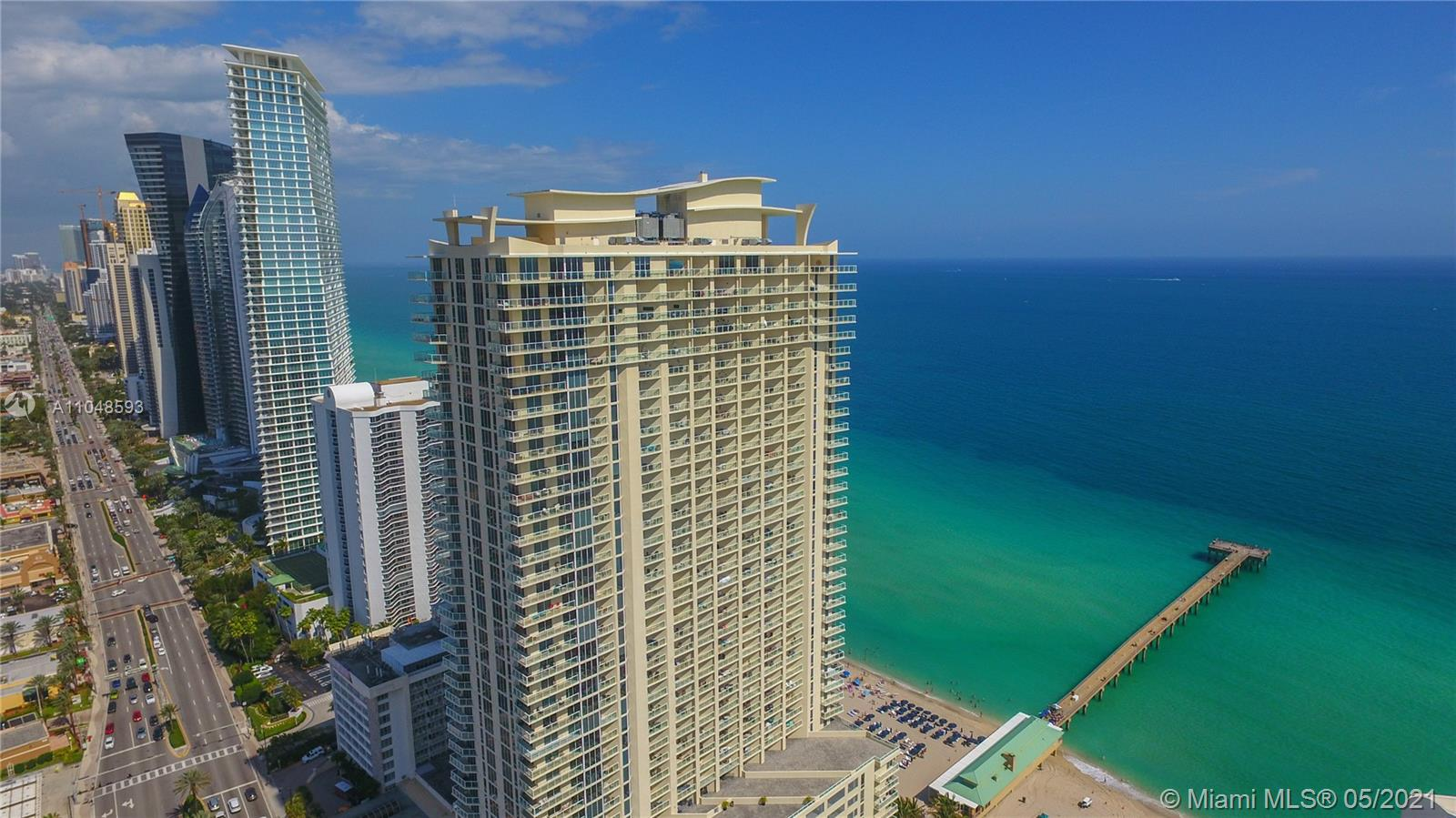 Gorgeous 2 Bedroom/2 Bathroom Condo in the Heart of Sunny Isles. Located Directly on the Ocean, This Unit Features Tile and Wood Floors Thru Out, Open Kitchen With Granite Countertops and Wood Cabinets. Breath-Taking Southeast Ocean Views with 2 Balconies, Washer & Dryer. Master Bath Features His and Her Sinks with Tub and Shower. Located Right on the Sunny Isles Beach Fishing Pier. Building Amenities Include Valet Parking, Oceanfront Pool and Gym, Beach Service. Rentals Allowed Right Away 12 Times a Year. Location Offers Easy Access to World Class Shopping, All Major Roadways, Dining, A+ Schools, Golf Courses, Airports and Ports, and Much More. Pet Friendly Building! ***Multiple Offers Present. Highest and Best Due By 06/04/21 12PM***