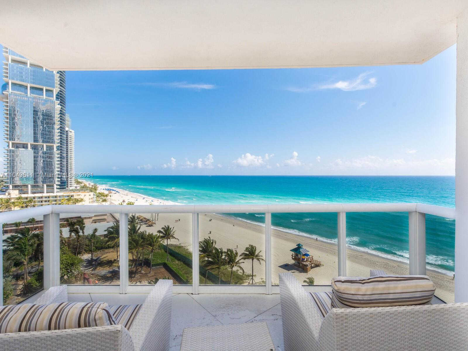 This stunning Sunny Isles Beach features a 4000 sqft of living space in five star-resort Trump Royale with 3 bed / 3.5 bath masterpiece with private elevator entry and comes exquisitely finished  with custom upgrades throughout ( furniture is negotiable). Unit features an open concept living area,Italian kitchen with sub Zero refrigerator, custom wine cooler, large walk-in closets, window treatments and expansive ocean views from every room. Enjoy Trump's 5-star resort style living with 3 on-site restaurants, 24/7 room service, concierge, beach club, 3 pools, 4 hot tubs, tennis courts, dog park, luxury spa, gym, free valet. Buyer has an option to acquire the 1 BR on the same floor - unit 1108 for $650,000 with an additional 881 sqft.