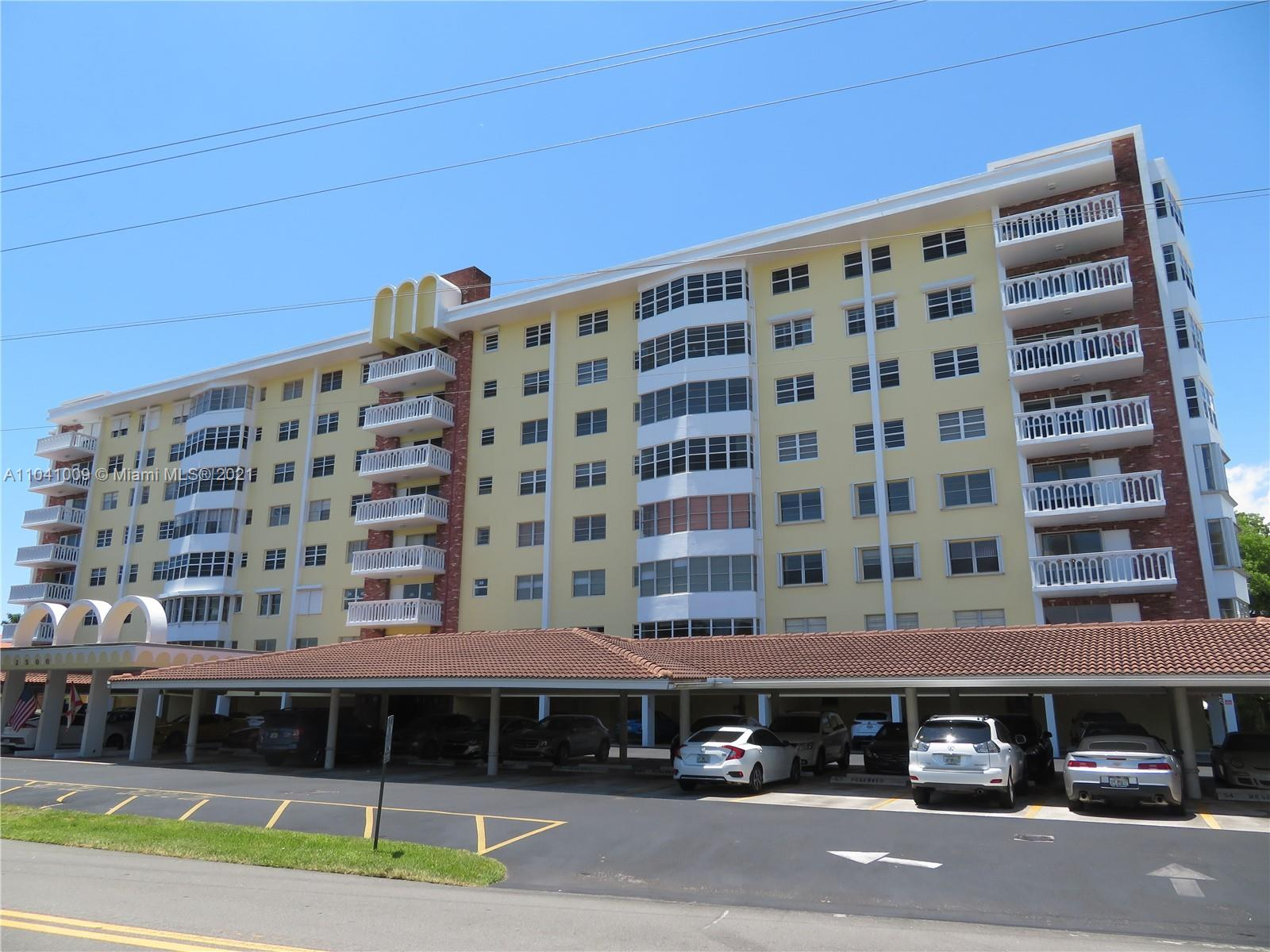 This 2 Bedroom 2 Bath Condominium has been meticulously maintained for many years as has the Building! Building provides an attendant at the front door and closed circuit cameras provide 24 hour surveillance, for your peace of mind. Covered parking is another great feature! Ideally located close to fine restaurants, Houses of Worship, I-95, fun activities in Lauderdale By The Sea and so much more! Beautiful views nightly of the stained glass windows across the street! New paint. Great Area Value! How in the world do people live anywhere else? Come check it out before it's gone!
