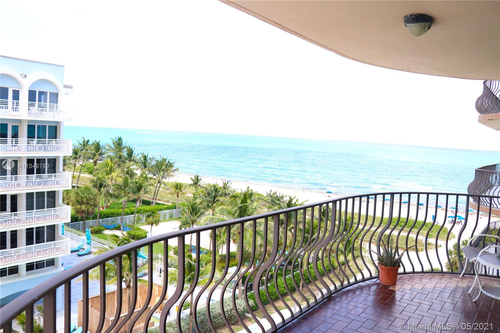 Beautiful beachfront property with an ocean view! Spacious 2/2 condo with a balcony and stainless steel appliances. One-of-a-kind location to make your own! Relax in the pool, hot tub, or take long walks on the beach. Minutes to Bal Harbour shops, restaurants, and supermarkets. Walking distance to tennis courts. 24-hour security, fitness center, recreation room, BBQ area with picnic tables outdoors perfect for entertaining.
