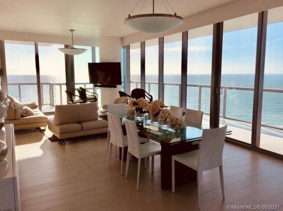 Best line in the building. Beautiful flow through unit with ocean and city views. Jade Ocean @ the Beach by Carlos Ott arquitect. 2 parking spots - Furniture is included in the price. 5 stars amenities include, beach service, fitness center, full service spa, two pools, party room, valet parking and more. Located in Sunny Isles.