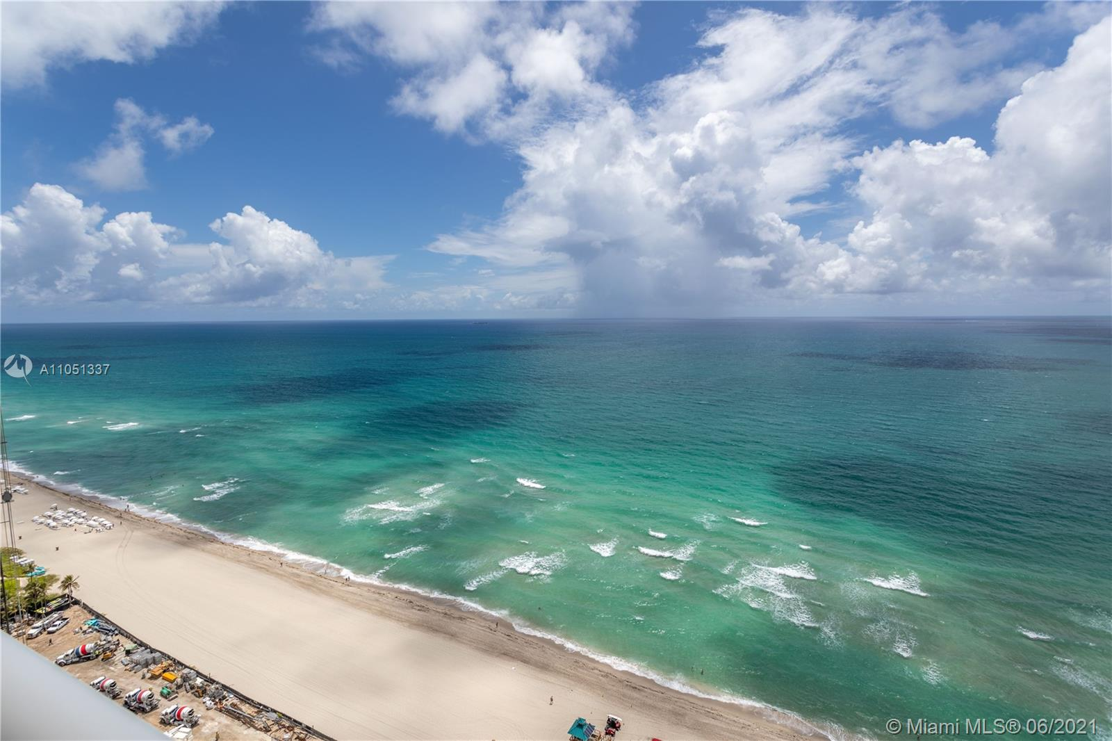 Acqualina is an ocean front unit with world -class services and amenities  Garden areas,private beach club