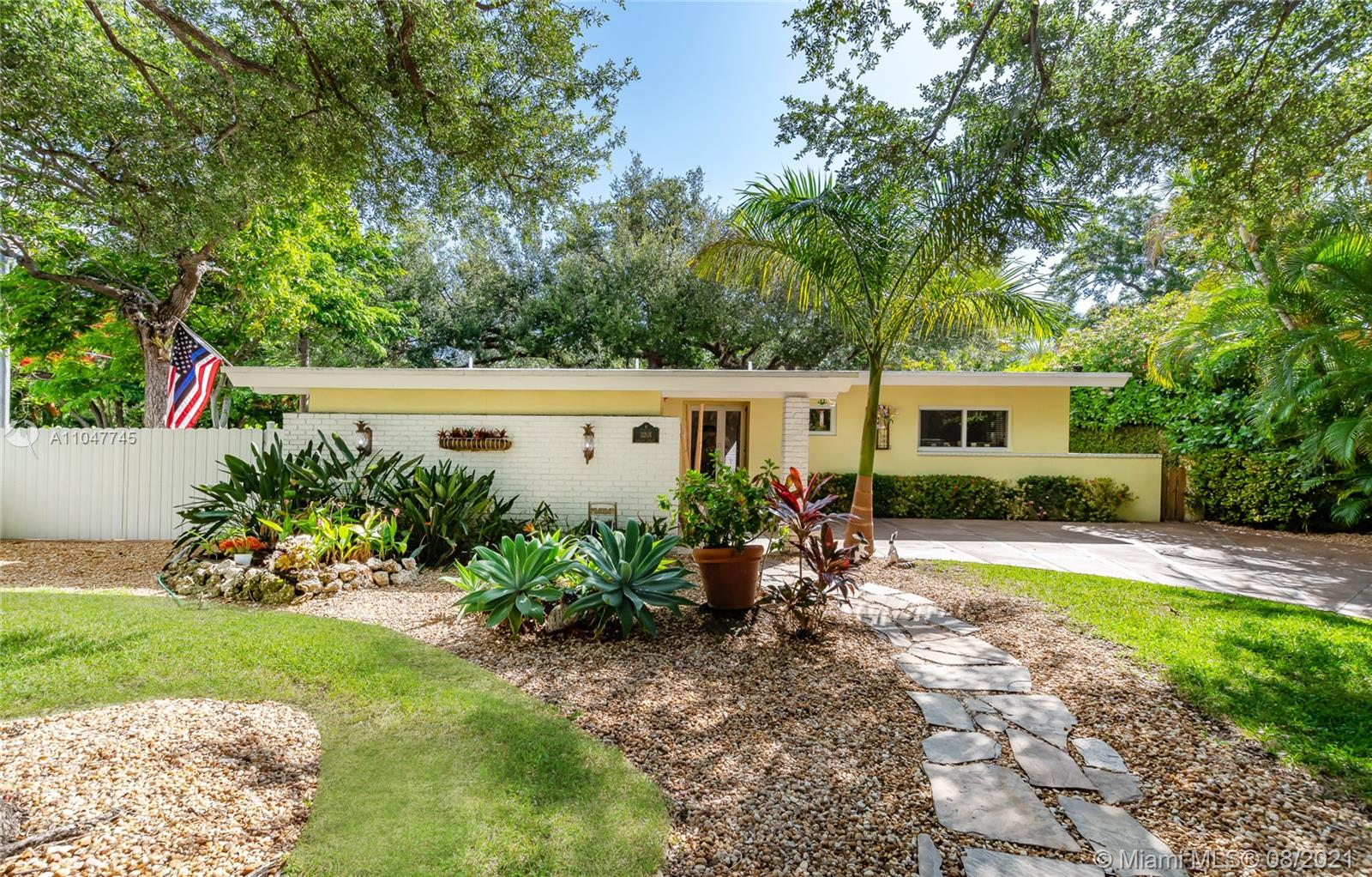 LUCKY YOU- Back on Market! North Coconut Groves Orchid Charmer! 2-bed, 2-bath Turn-Key, stylish home, 2 blocks from Biscayne Bay! Great upgrades to include kitchen appliances & water heater upgraded in 2019. Home features High Impact Windows, storage, 12 x 16 air conditioned shed & renovated bathrooms. You'll love the  screened-in porch & spacious backyard with patio, trees, gorgeous foliage, Orchids & recently planted Clusia hedge. Huge area to entertain & host special events or enjoy the zen sanctuary. Located in low traffic corner lot on cul-de-sac. Plenty of parking, room for a boat & golf cart. Minutes to Kennedy Park, Fresh Market, Montys, StarBucks, Ransom School, Coral Reef Yacht Club, Regatta Harbour, Anatomy Luxury Gym & Cocowalk! High Elevation-No Flood Zone. A pleasure to show