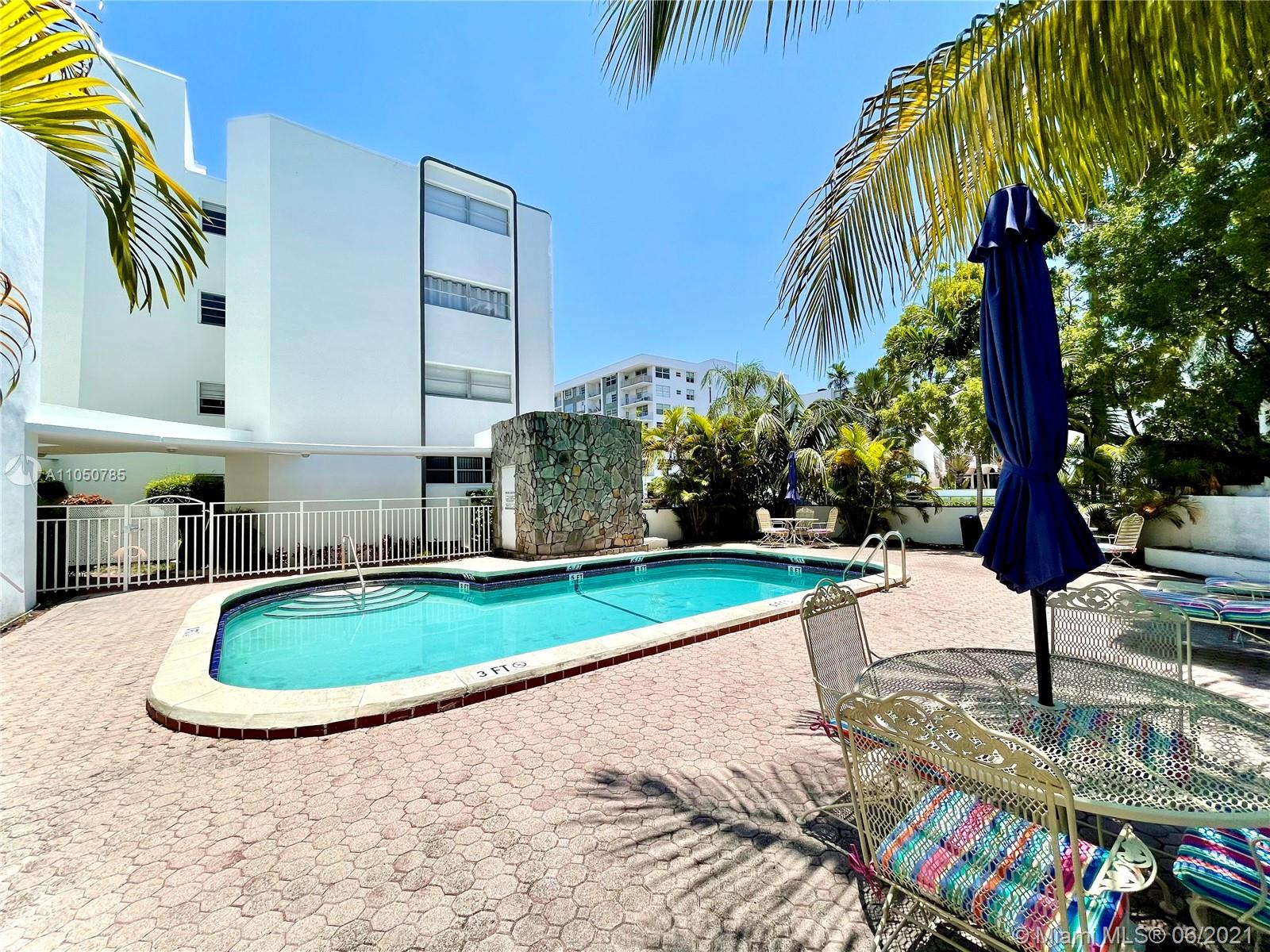 Amazing opportunity for investors in Bay Harbor Islands. This beautiful unit is located on the first floor and offers 1 Bedroom 1.5 Bath plu Den, high impact windows, ample kitchen, bright living and dining room area, huge master bedroom and walk-in closet. Building offers, community pool and laundry. Great location 1 block away from School, walking distance to Restaurants, Bal Harbour Shops, Banks and Beautiful Beaches. Great Location!!