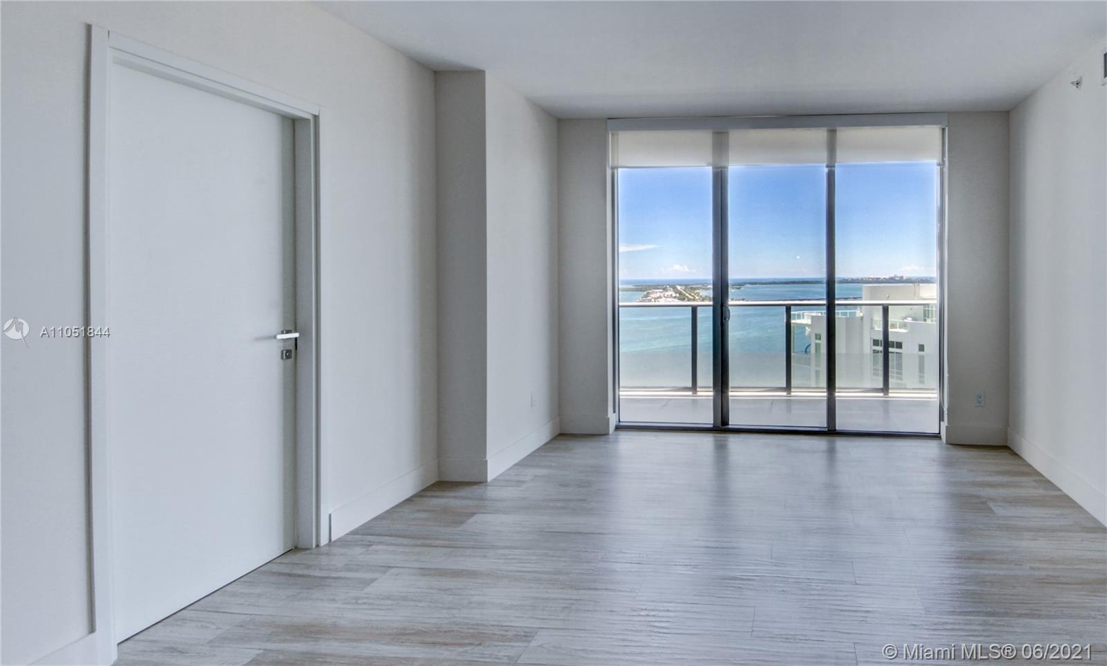 Amazing Direct Bay Views! This beautiful 2/2 + Den Unit features ceramic flooring, expansive balcony, Italian cabinetry, stainless steel appliances and beautiful bay views.  This full service building includes a private lounge, rooftop pool, lap pool, sauna, steam room, spa, fitness center, 24 reception, valet and more.