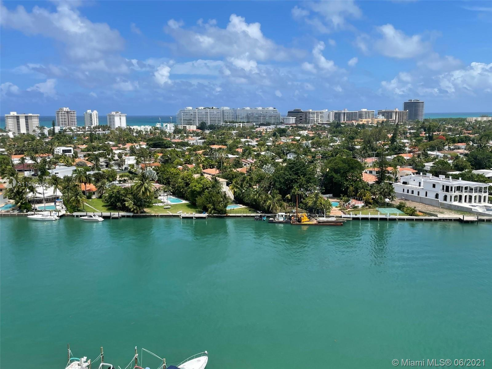 Located on the tip of Bay Harbor Islands, the Blair House is an iconic mid-century modern building with stunning views of Indian Creek, Downtown Miami, and the open/tranquil waters of Biscayne Bay. This Penthouse unit has one bedroom, one and a half baths (could be converted into a two bedroom), tile floors, foyer entry, one storage unit, and 1 deeded parking space. INCREDIBLE VIEWS from the eleventh floor, impact windows, automated blinds, newer a/c. Beautiful and sprawling pool area, gym, and totally remodeled common areas. A short walk to local restaurants, dog park, Bal Harbour Shops, and the beaches. A-rated school district and and an amazing lifestyle to call your own.