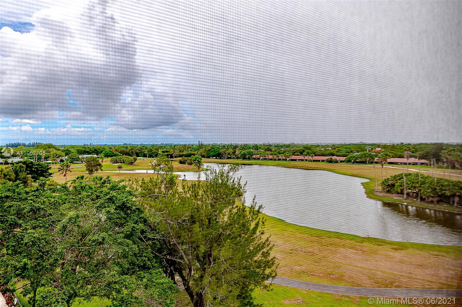 PANORAMIC GOLF, WATER & HORIZON VIEWS from this desirable 8th floor Penthouse condo.  Tons of natural light, open floorplan, w/ large glass enclosed balcony providing extra living space & open breezes.  HUGE primary bedrm suite, massive closets, White Eat-In Kitchen, Utility room w/full size washer/dryer, 2nd bed is used as a den w/movable wall.  Doorman building, private pool, social room, tennis, car wash area.  ONLY $299/year for membership to Bonaventure Country Club granting full access including pools, tennis, gym, meeting rooms, bowling lanes & more. Close to shopping, airports, dining; A rated schools; one of the safest cities in the USA.  Estate Sale needs court approval, but is in process and only waiting for contract, will not cause a delay with closing. Furnished or Unfurnished