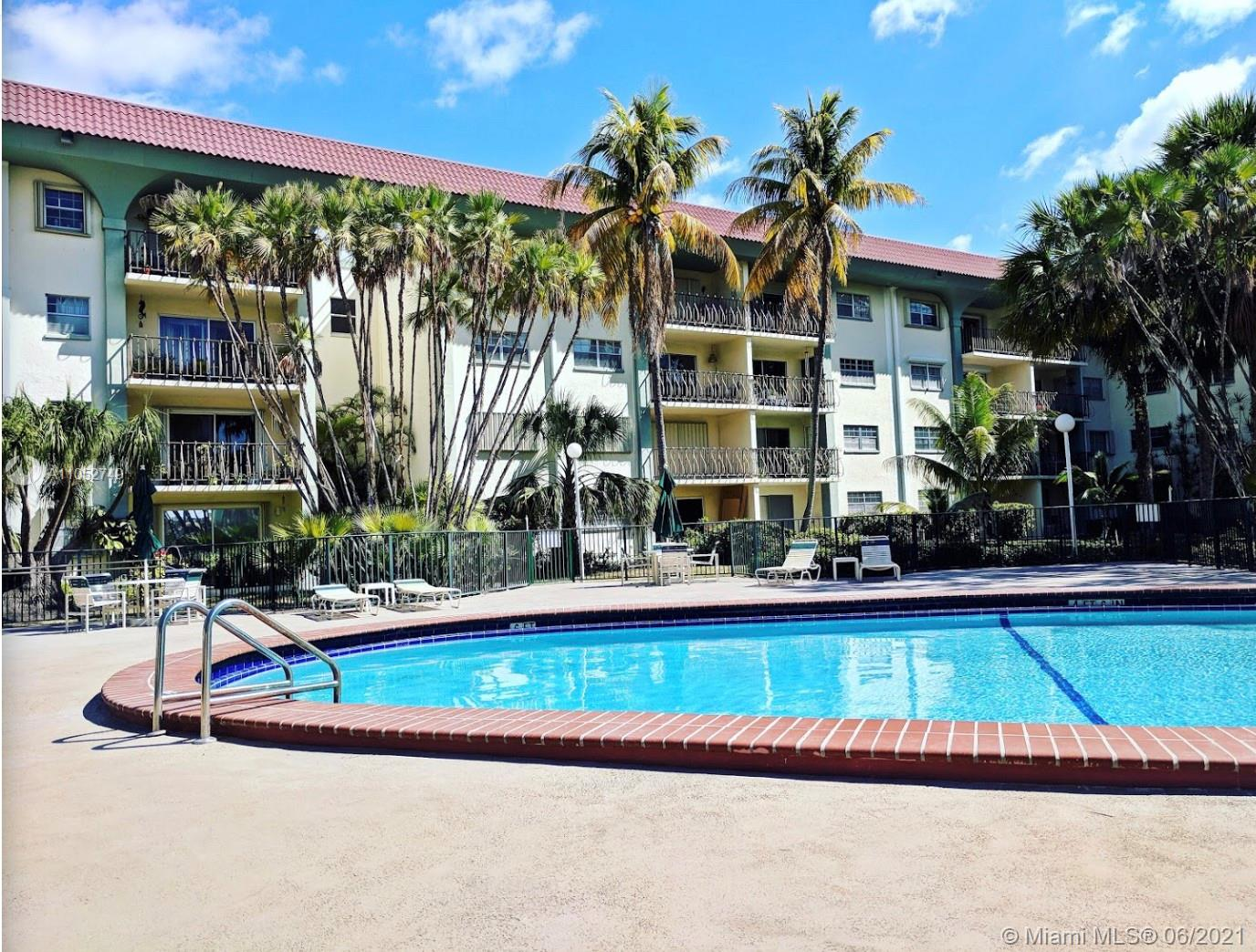 Enjoy the beautiful pool view from your balcony! Best located 2/2 condo with large open floor plan in Granada Dadeland. Walk to Dadeland Mall, restaurants, shopping and the metrorail!  This apartment has been well maintained with carpeting throughout, lots of closets, balcony access from living room & 2nd bedroom and features the original cabinetry….all in good condition! Monthly maintenance fee includes building insurance, amenities, cable, water.    BONUS…2 ASSIGNED PARKING SPACES!