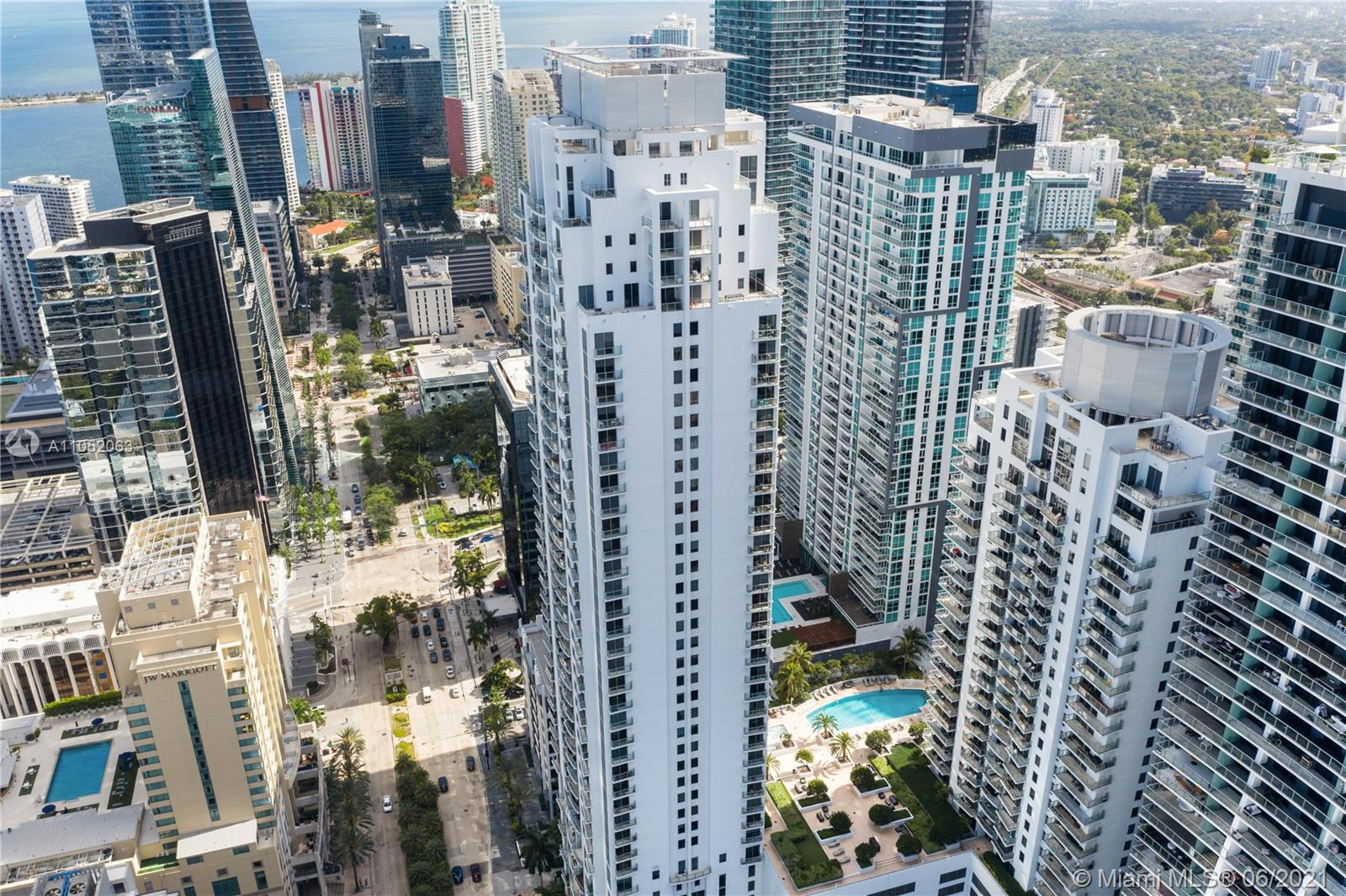 Fantastic loft unit in the exclusive 1060 Brickell Condo, facing vibrant Brickell Avenue,  offering a one bedroom one half bath , Kitchen boasts Stainless Steel Appliances, Italian cabinetry, Quartz countertops . Full-service building with Low HOA's and Spectacular Amenities; Pool-Deck, Heated Hot Tub, Sauna, State-of the-Art Fitness Center, Club Room, Billiards Room, Virtual Golf as well as Table Tennis. 24 Hour Patrolled Security, Valet Parking, Font Desk Concierge. In the heart of Mary Brickell Village and Brickell City Center. Property is tenant occupy.