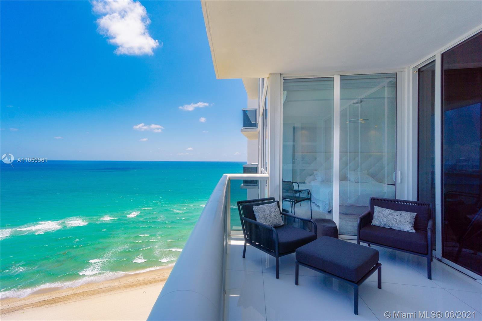 Step in from your private elevator entry to this extraordinary direct ocean residence with panoramic views of the ocean. This unit has been decorated by ARTEFACTO interior designer. It includes ARTEFACTO living room, dining rooms & bedroom furniture. Top-of-the-line kitchen with Italian cabinets and Miele/Sub-Zero appliances. Trump Royale is part of an 11-acre ocean front property with features and amenities of a 5–star resort. It includes an 8000 Sf fitness facility, owner's spa, tennis court, pool & room service, bar, restaurant, and more. Live in the spectacular Sunny Isles Beach right on the ocean and benefit all the Miami life style. Minutes to Bal Harbour Shops and Aventura Mall.