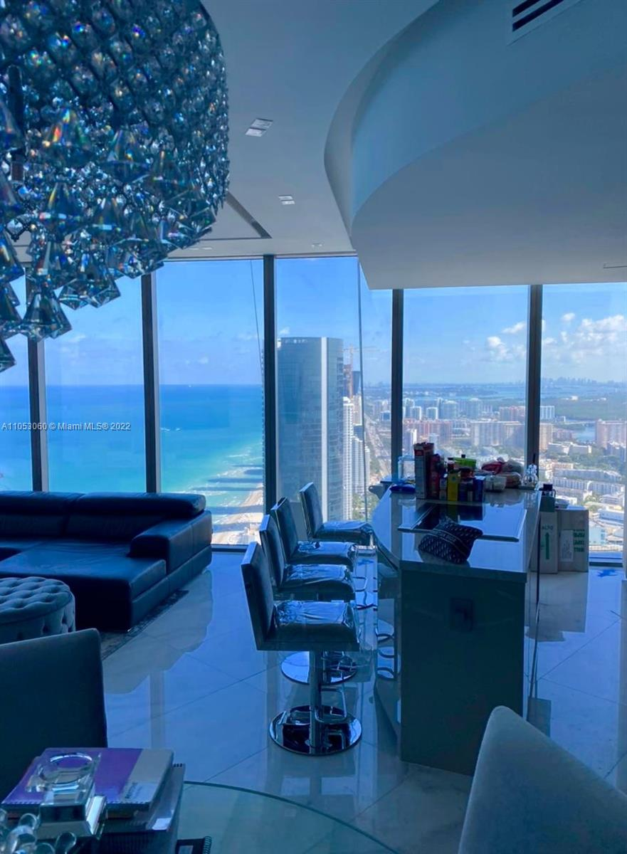 Brand-new, Furnished, Turn-key Oceanfront unit with a priceless view and gorgeous interior with 2 Bedroom + Den (Murphy bed), 2.5 Bathroom, tastefully and professionally designed and furnished with unobstructed views of the Atlantic Ocean and Intracoastal. Provides an unparalleled lifestyle of luxury and tranquility in the gem of a city that is Sunny Isles Beach. World-class amenities and 5 star service include an Oceanfront Pool + Bar, Restaurant, Spa & Fitness Center, Grand Lobby and Bar Lounge, Cigar and Wine Room, Children's play area, Concierge, Security and Valet and more.