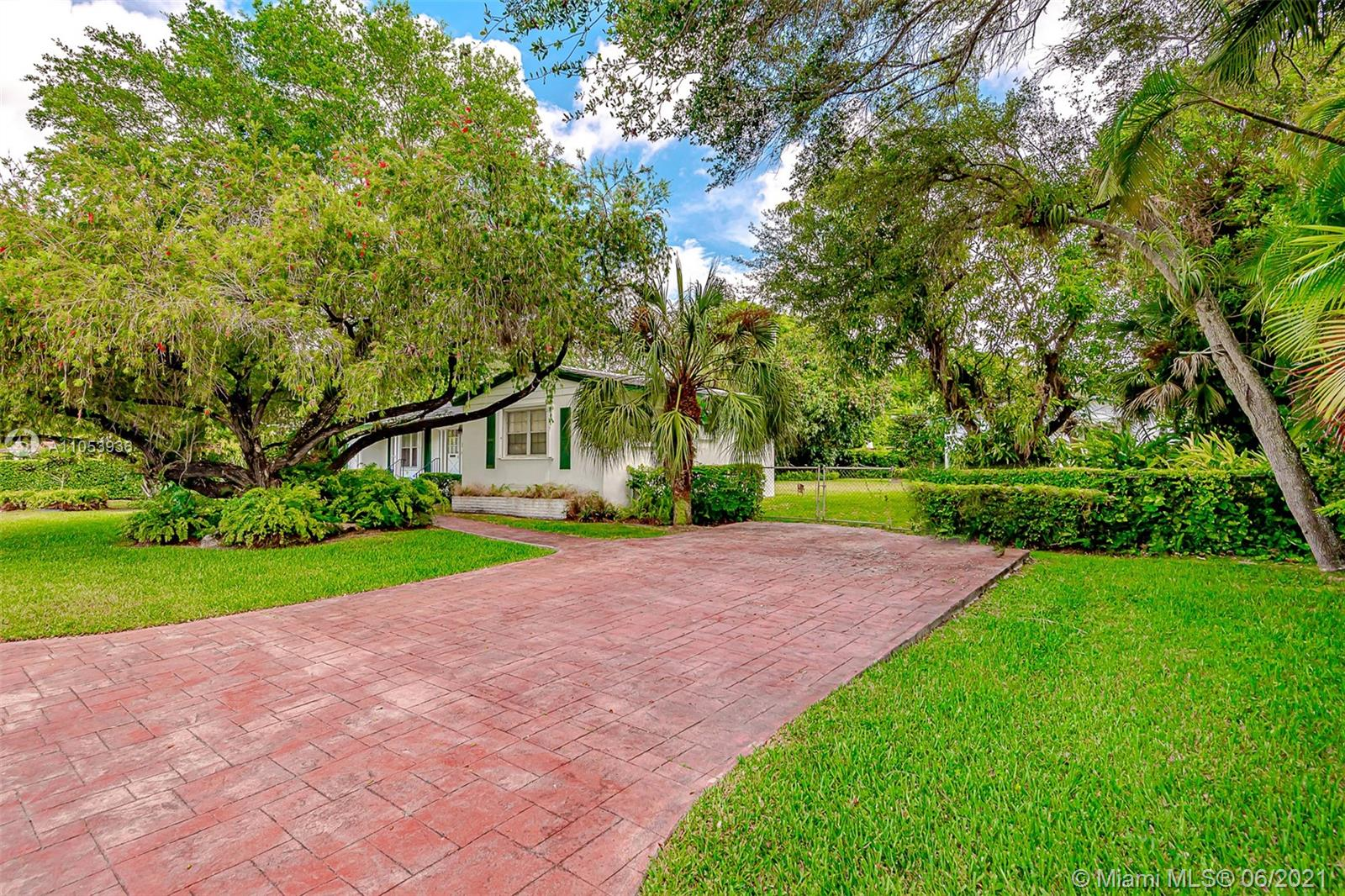 Great location and an oversized lot in South Miami. This home is ready to be fully renovated or torn down and replaced with your dream home.