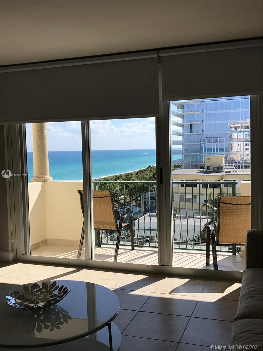 Beautiful bright and sunny 1/1 apartment located in one of the best areas in Miami. Amazing view! Kitchen and Bathroom have been remodeled. Plenty of closet space. Very spacious bedroom and living/dining area. 24 hs lobby attendant. Direct beach access from building. Location is the best! Next to the Four Seasons Hotel and just a few blocks away from Bal Harbour Shops. Walking distance to Surfside recreation center. Restaurants, supermarket, House of Worship etc.