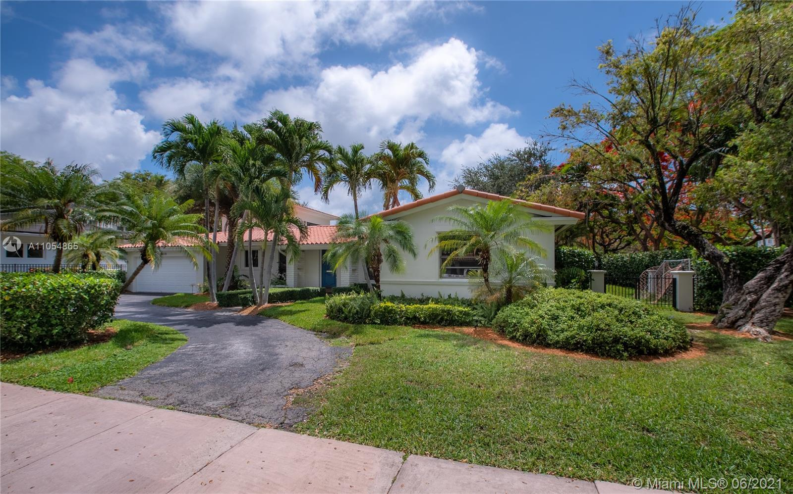Great opportunity to own a wonderful, light-filled 4 bedrooms 3 bath family home (2837 SQFT living area per appraisal measurement) on a quiet tree-lined street in one of the most desirable Coral Gables neighborhoods. This home features a split bedroom plan with an upstairs master suite. Enjoy the sparkling pool/spa. The outdoor patio has a built-in grill and cooler that is perfect for entertaining. The home is a hop, skip, and a jump from Coconut Grove, downtown Coral Gables, and downtown South Miami. Property is well situated for easy access to Miami Beach, Key Biscayne, Brickell, Design District, and Airport. A+ schools and in X zone area determined to be outside the 1% and 0.2% chance floodplains. This corner lot home will not last! Please contact the listing agent for showings.