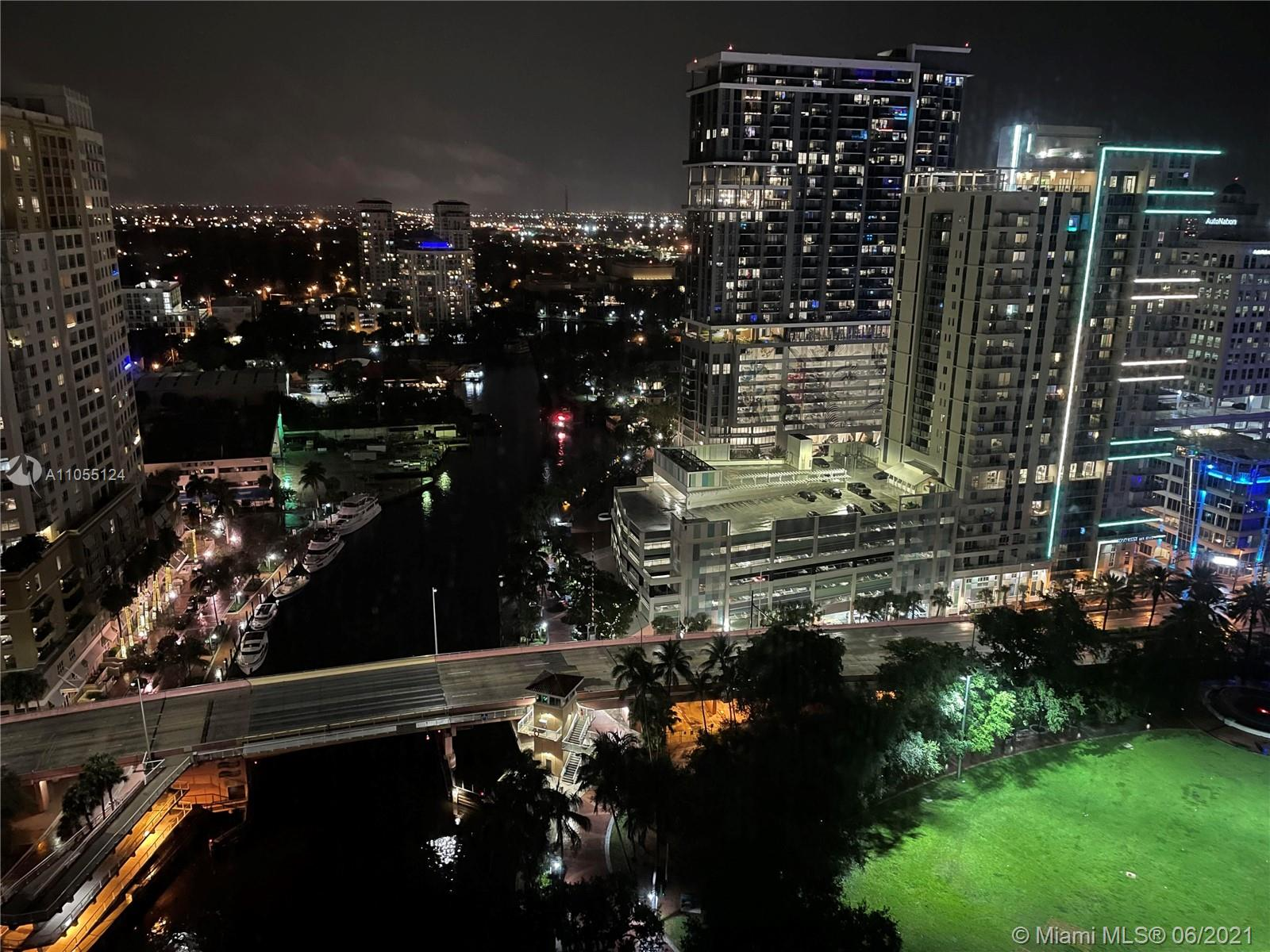 LOCATION LOCATION LOCATION! Live in the HEART of downtown in FTL's landmark tower, the LAS OLAS RIVER HOUSE. Semi-Private Foyer opens into a stunning wood floor unit with unrestricted views. This spacious 1200sqft 2/2 unit features floor to ceiling windows throughout. DESIGNER kitchen area, master suite with walk-in and more. The River House offers a 5 star lifestyle with 24 hour valet, concierge, fitness center with classes, 6th floor resort style pool/grill/hot tub/putting green with views of the Riverwalk, sunsets and Huizenga park. Look no further- THIS is YOUR new home! Must be Accompanied by Listing Agent for all showings. Limited Showing Days available- contact Listing Agent for full details. Unfurnished Rental is $3900/month. Furnished Rental available at $5000/month.