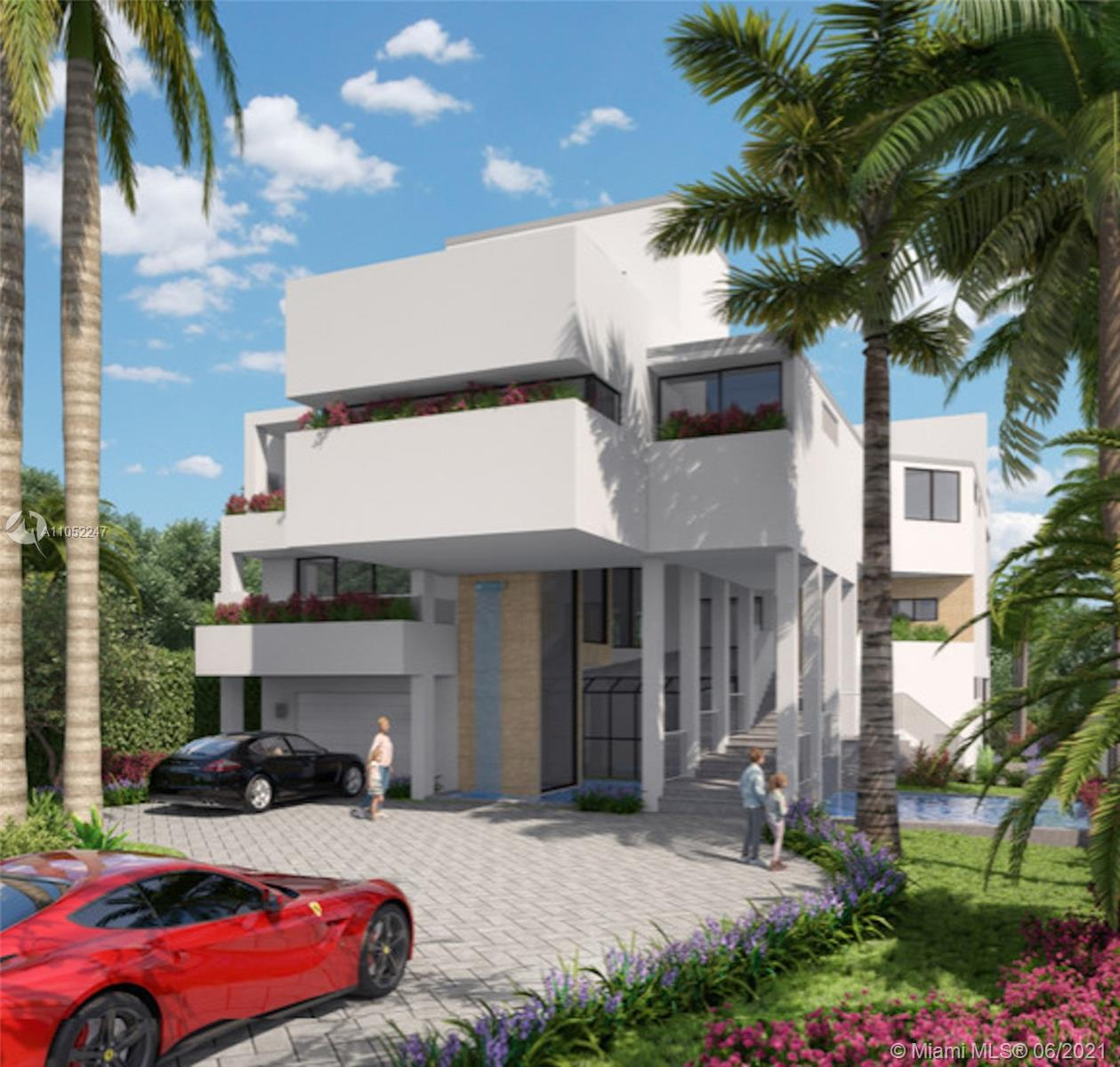 Pre-construction - a work in progress. Unique and most special opportunity to luxuriate in a newly designed home on prestigious Hibiscus Island on Miami Beach. Every conceivable comfort and appointment has been considered here. Elevator, gourmet chef's kitchen, salt water pool and spa, boat dock , office, laundry room, maid's quarters , large family room and media space, summer kitchen, exquisite landscaping, soaring ceilings, oversized windows , fountains, waterfalls; most gorgeous architecturally designed exterior created with the utmost thought. An eden extraordinaire for a discriminating buyer. Every evening enjoy the wide bay view as the reflection of the sunset and lavish neighboring properties meets your gaze. Plans available for inspection by appointment. Luxury, comfort, quality.