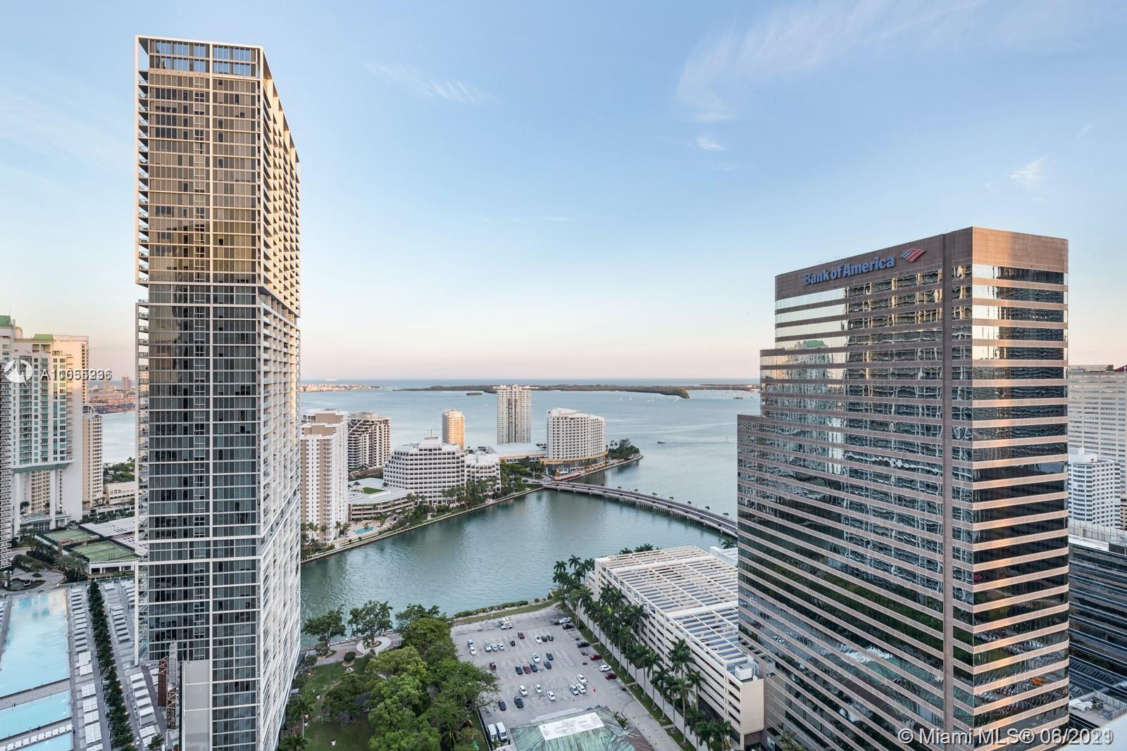 Elegantly appointed 3 bedroom 3 bath apartment available for sale at 500 Brickell in the heart of the Brickell area. Unit 3701  features refinished wood floors throughout, white quartz countertops, stainless steel appliances, and oversized terrace with stunning views of Biscayne Bay. Very spacious apartment with each bedroom having a walk in closet and access to it's own bathroom. Enjoy all of 500 Brickell's luxury amenities including rooftop heated pool, 24 hour concierge service, spa equipped with sauna and steam room, private movie theater, state of the art fitness center, and more. Walking distance to the shops of Brickell City Center and the Miami River. Please note unit is tenant occupied. Contact listing agent for showing instructions.