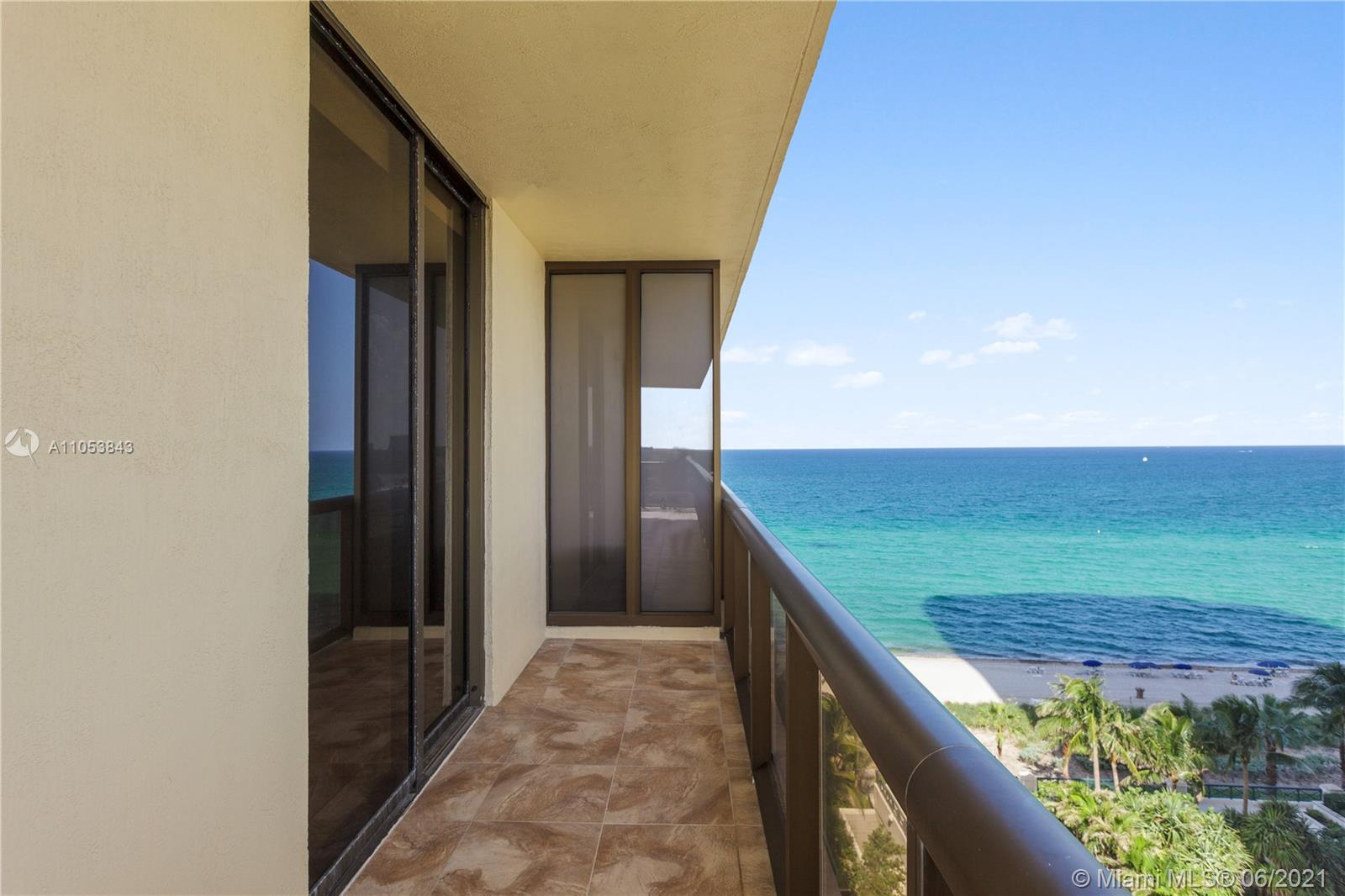 Located in the MOST desirable 04 line at Sayan. Spacious 2 Bed / 2.5 Bath condo with a large wrap-around balcony to enjoy Stunning Ocean & Intracoastal views! High Impact Floor to ceiling windows. Marble floors throughout. Full-service building with beach services: towels, chairs, and umbrellas. Fitness center, 24 hr. concierge & valet. Walking distance to supermarket, Banks, Restaurants, etc.