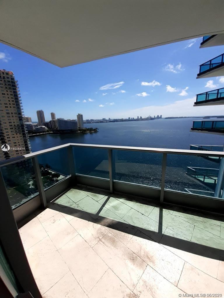 UNIQUE CORNER UNIT IN BEST RESIDENTIAL BUILDING IN BRICKELL. OPEN BAY VIEWS FROM LIVING ROOM AND BED-ROOM PLUS CITY VIEWS, ALL THE ROOMS OPEN DIRECTLY TO GREAT BALCONIES. PRIVATE ELEVATOR. 5 STAR AMENITIES,TWO HIGH SKY POOLS FRONTING THE BAY , SPA,GYM,COMMUNITIES ROOMS ETC. LIVING AREAS WITH MARBLE FLOORS, BED-ROOMS COZY WOOD.KITCHEN WITH TABLE PLACE AND STAIN STEEL APPLIANCES WITH GRANITE COUNTER TOPS AND WOOD CABINETRY. TENANT IN PLACE UNTIL JULY 2021