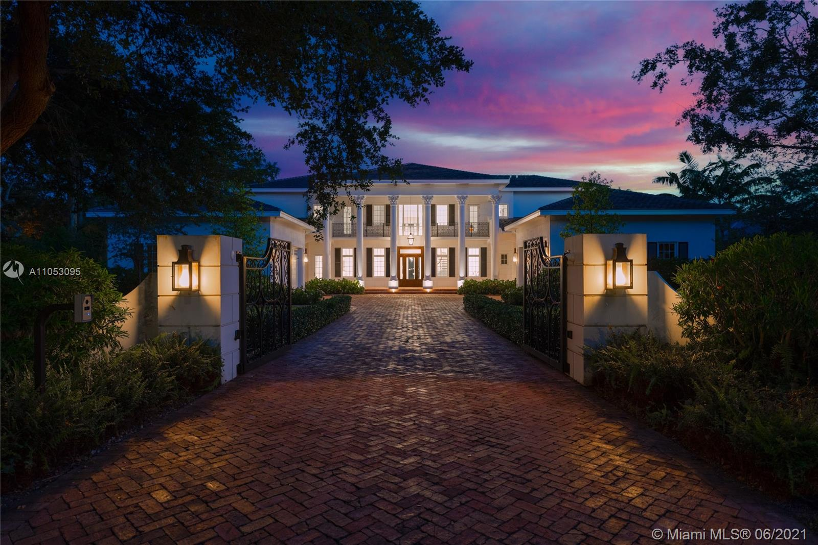 Come home to a one-of-a-kind, 13,000+ Sq Ft custom-built, newly designed Southern-inspired Pinecrest masterpiece-elegant craftsmanship set on an acre+ for indoor/outdoor living. Enter through a meticulously landscaped setting leading to the estate's majestic entryway, with vaulted ceilings. Enjoy spacious open living, with wide planked wood floors & Schonbeck Swarovski chandeliers. Step into the magazine-worthy chef's kitchen with a large marble island & double Viking range. Take the elevator or staircase to breathtaking views of the backyard & infinity pool. Unwind in the luxurious master suite with spa-inspired Victoria + Albert soaking tub, enclosed shower & private steam room. This estate has so much more, a cinema, pet shower, a high-tech security & sound system. No detail was spared.