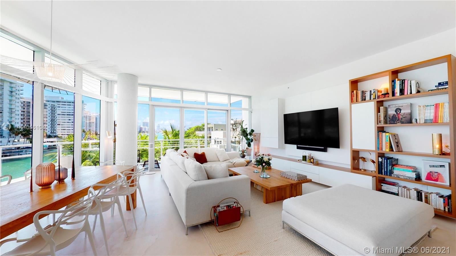 Exquisitely renovated 3 bed condo in sought after Aqua community - Allison Island. This rare SE corner unit features 10 ft ceilings, wraparound balcony, Indian Creek and South Beach views from every direction. Enjoy dining on your balcony & entertaining in your open Bulthaup kitchen complete with Fagor induction cooktop, Wolf warming drawer, and oversized island. Other upgrades: ice maker, wine cooler, electric blinds, built-ins, sink extension. Relax in your master suite with built out double closets. Master bath boasts a tub, 2 sinks & spa shower.   This luxury condo takes island living into the sky at the prestigious Gorlin Building, enjoy a business center, clubhouse, 5,000 SqFt gym, 2 pools, and a concierge that is there for anything you need. Contact us today for a Private Tour!