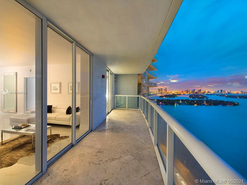 Stunning 2/2 fully furnished and decorated for sale. City view 180 degrees overlooking ocean, bay and all south beach. Internet access, Sonos sound System, I-pad wall remote that manages music all around the unit. Wine cooler, washer and dryer, Master bathroom has a TV in front of the tub etc... impeccable equipped! Great Amenities, 2 newly renovated pools, concierge, exclusive gym, assigned parking space, private dining, pool bar, board walk to South Pointe and Park. A must see!
